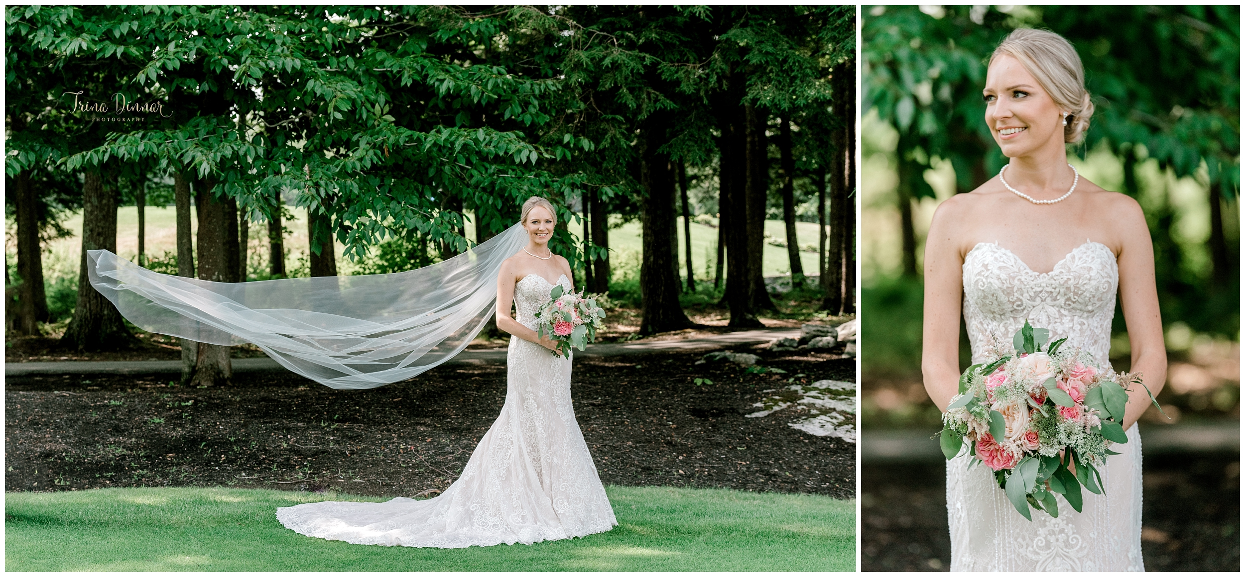 Golf Country Club Maine Wedding Bridal Photographer