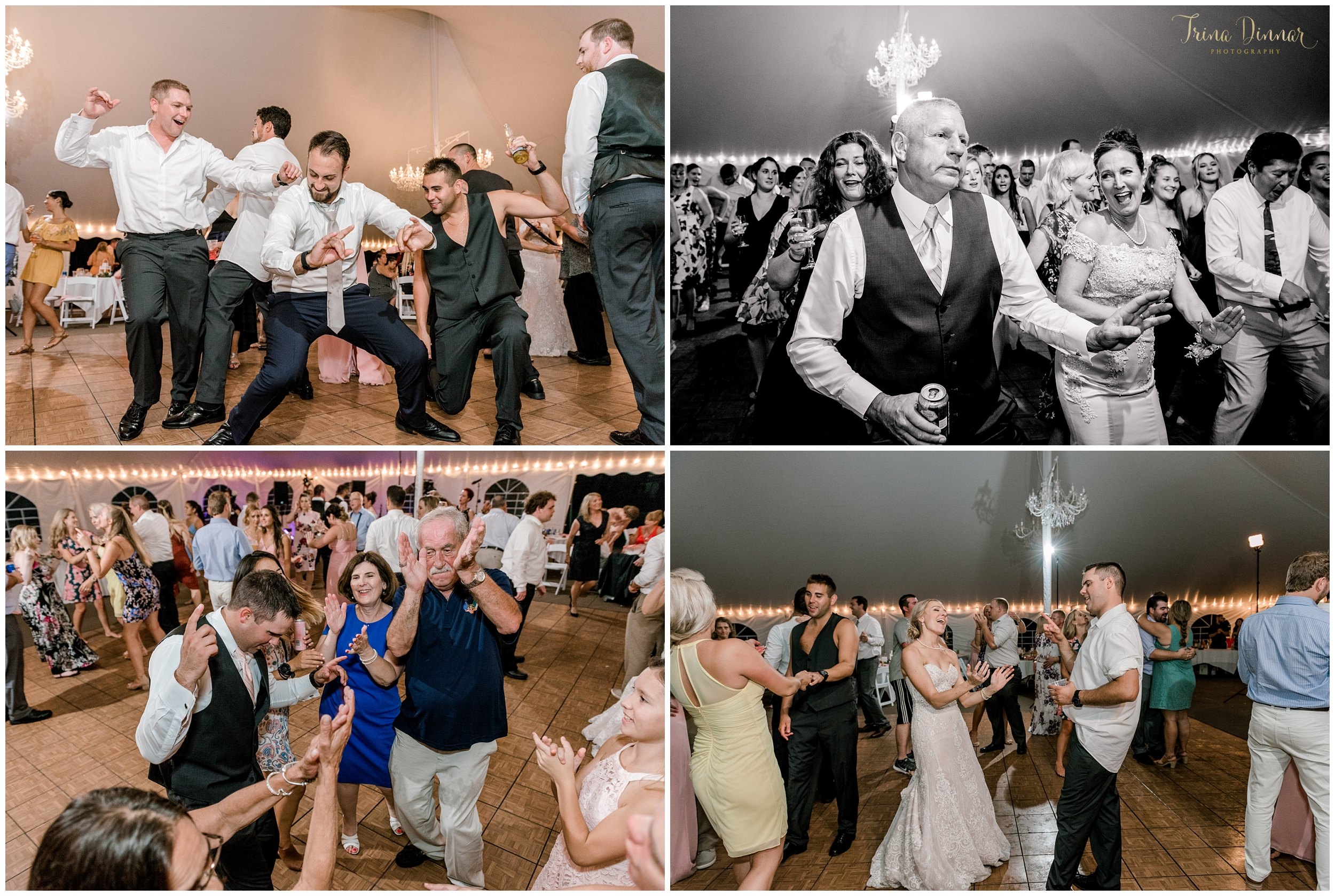 Wedding Reception Dance Floor Photos at Falmouth Country Club