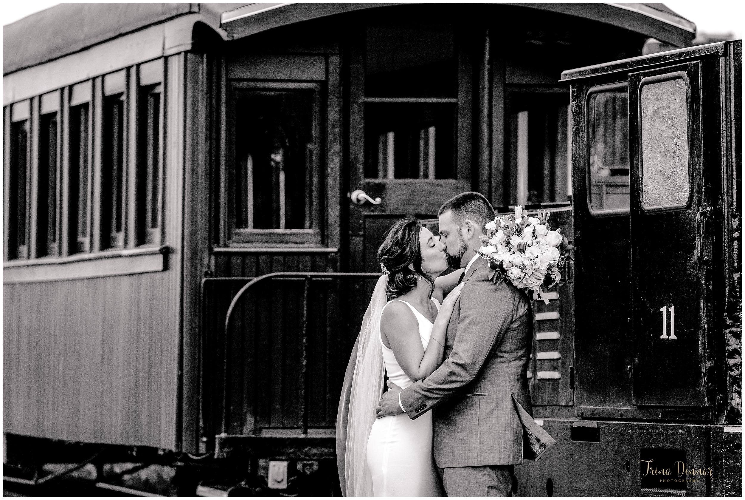 Narrow Gauge Railroad Portland ME Wedding Photos