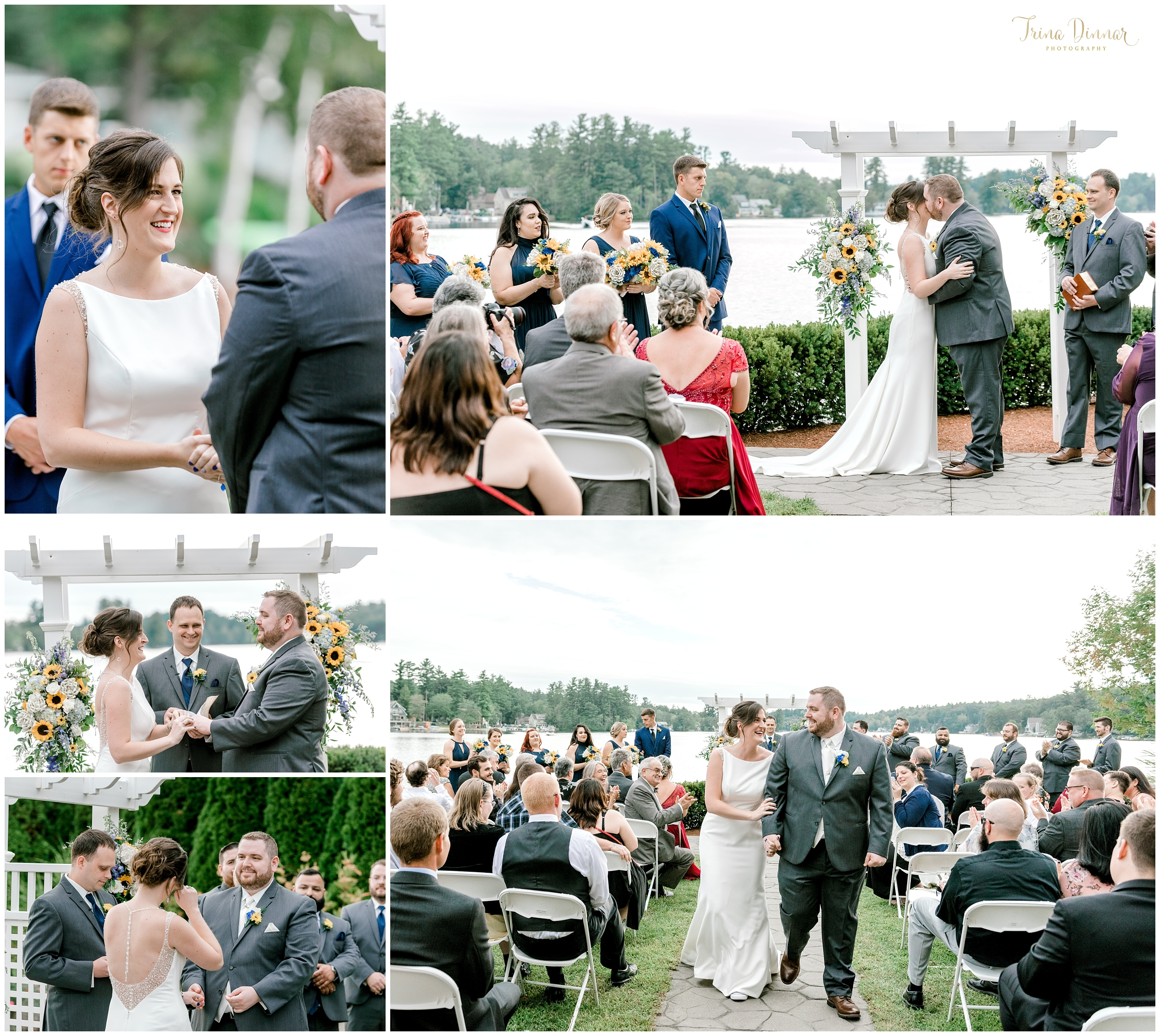 Erica and Alex's Castleton Wedding Ceremony in Windham NH.