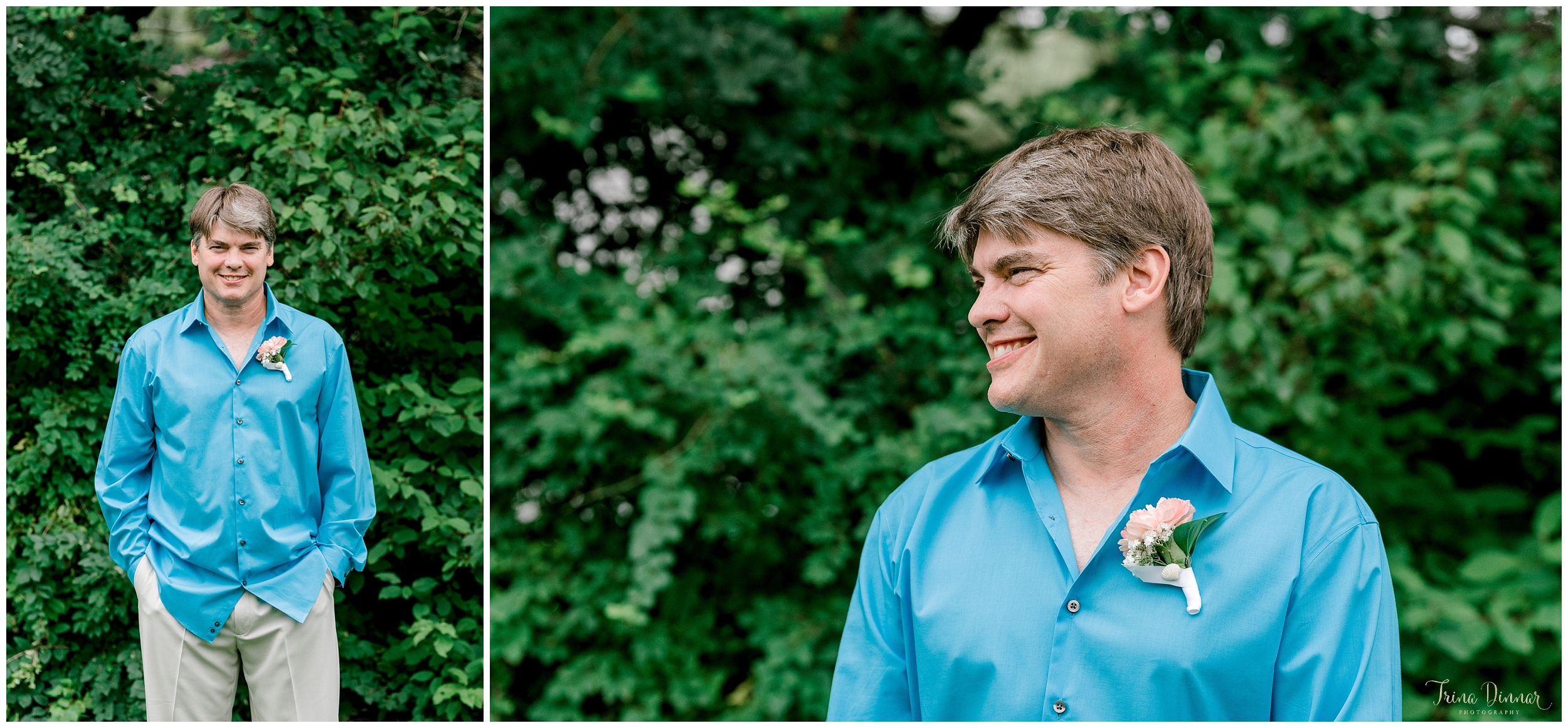 Groom wedding day portraits