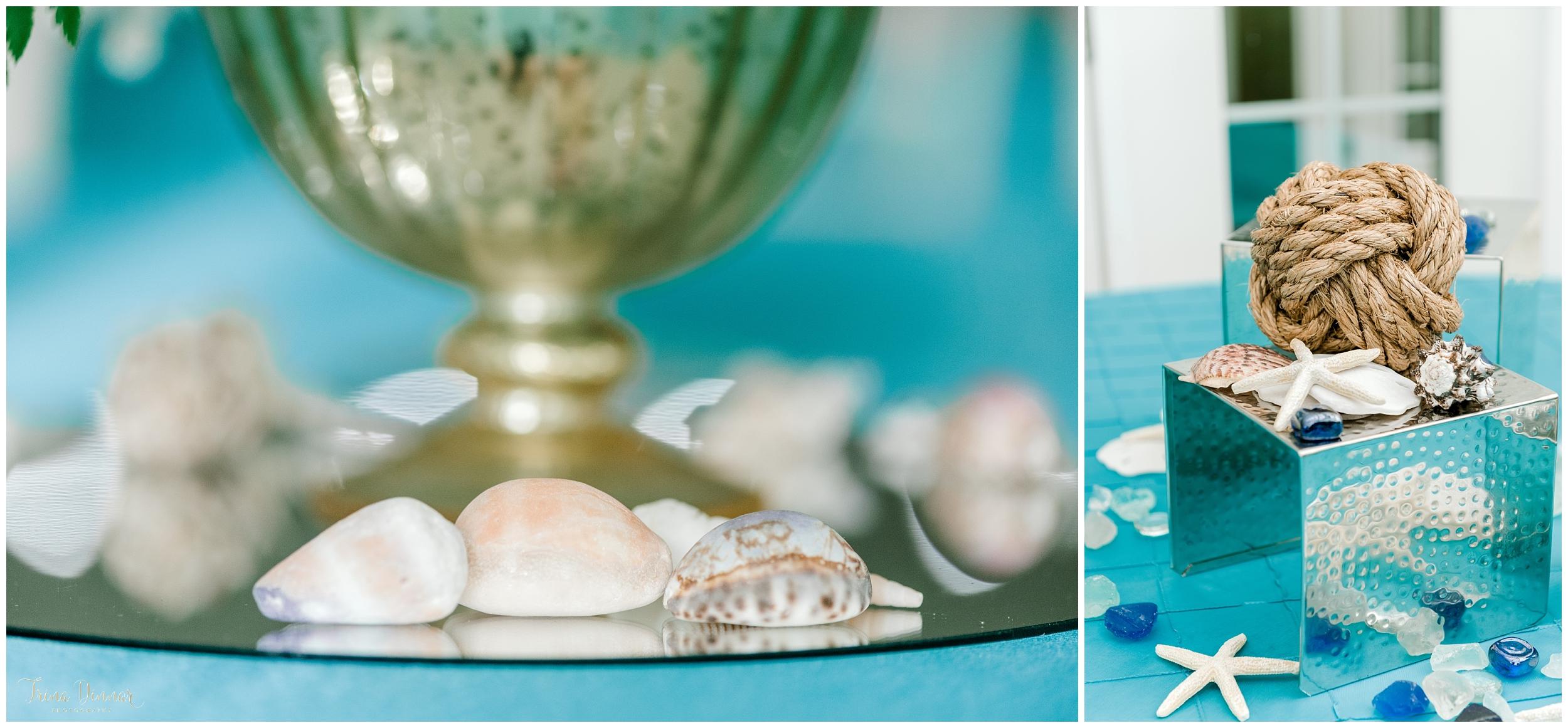 Beach Themed Maine Wedding decor