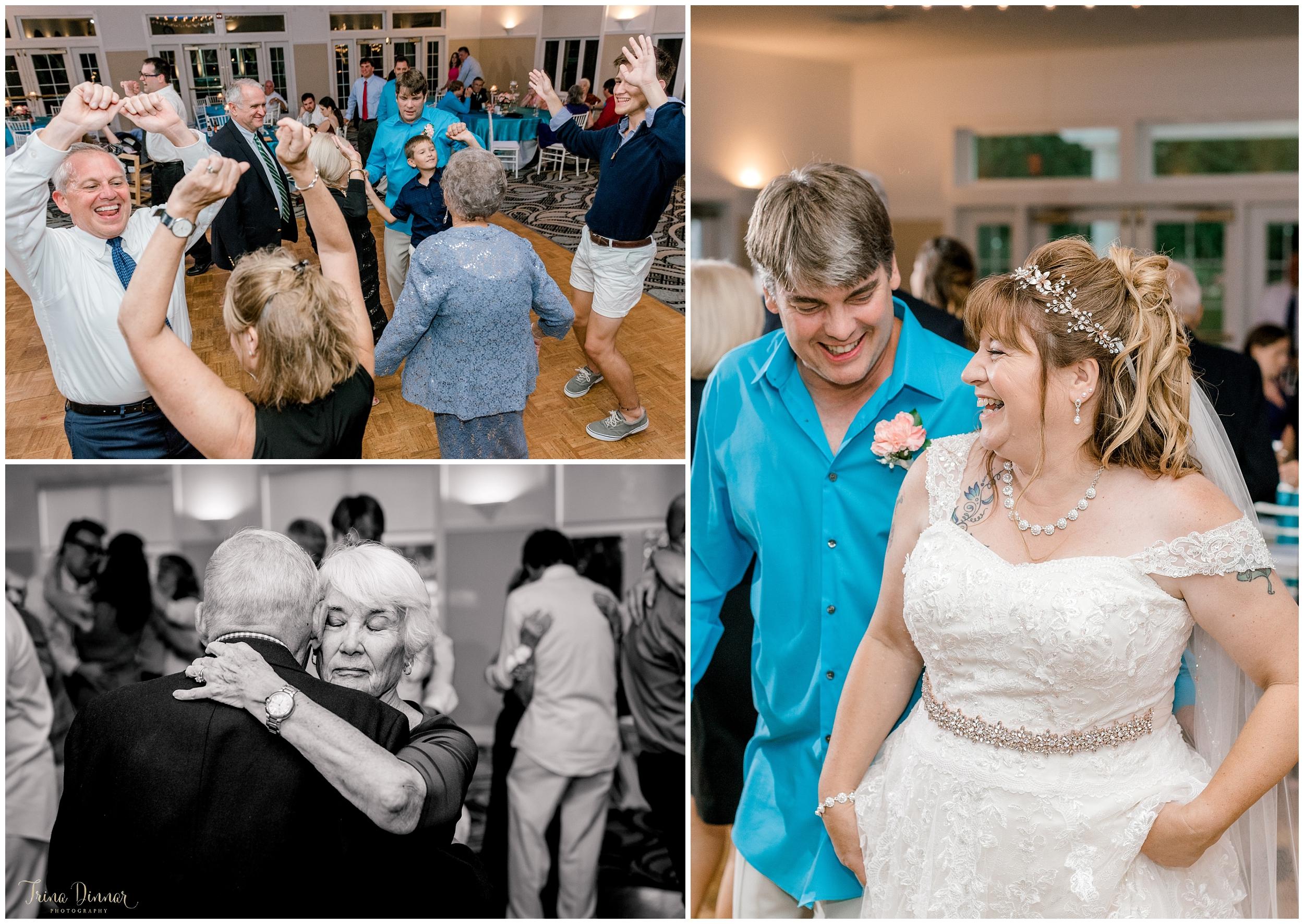 Wedding reception dancing in Wells Maine