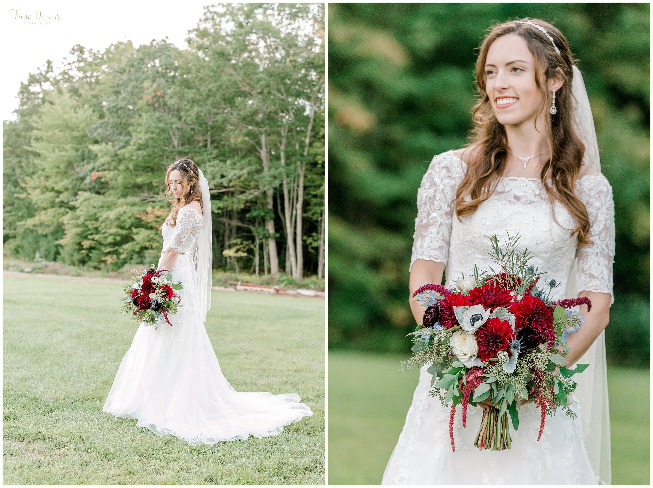 Jennifer's Southern Maine bridal wedding portrait photography