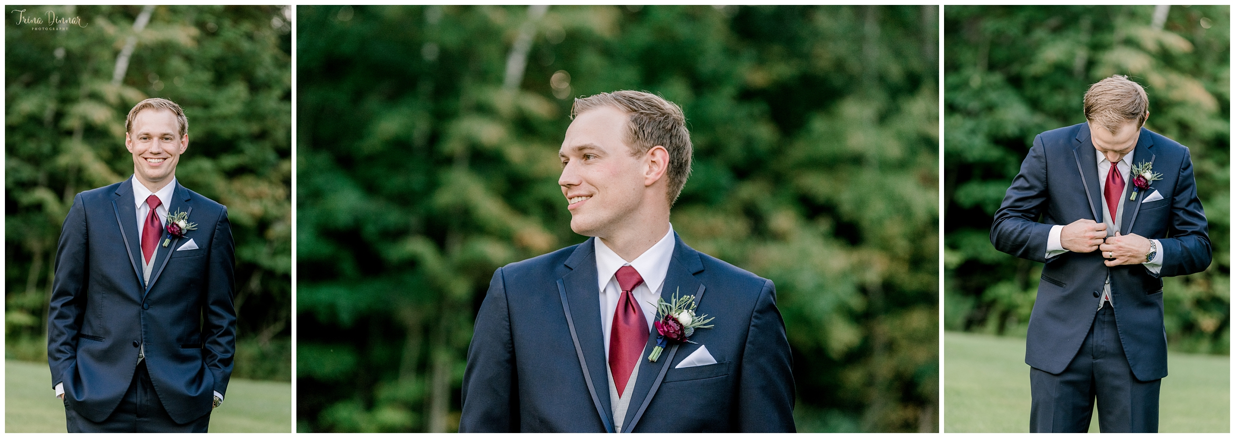 Groom portrait photography in Southern Maine