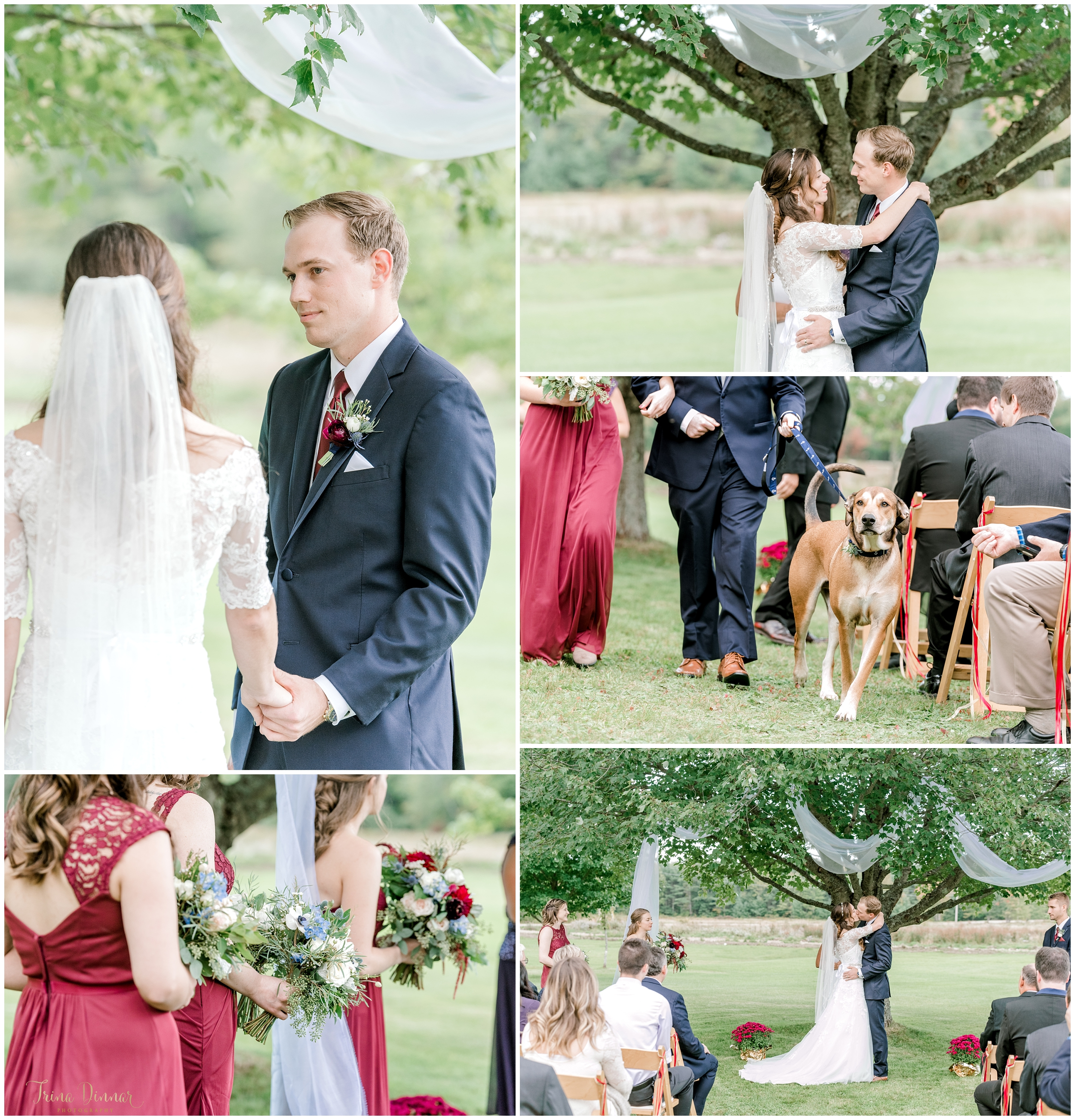 Outdoor southern Maine ceremony