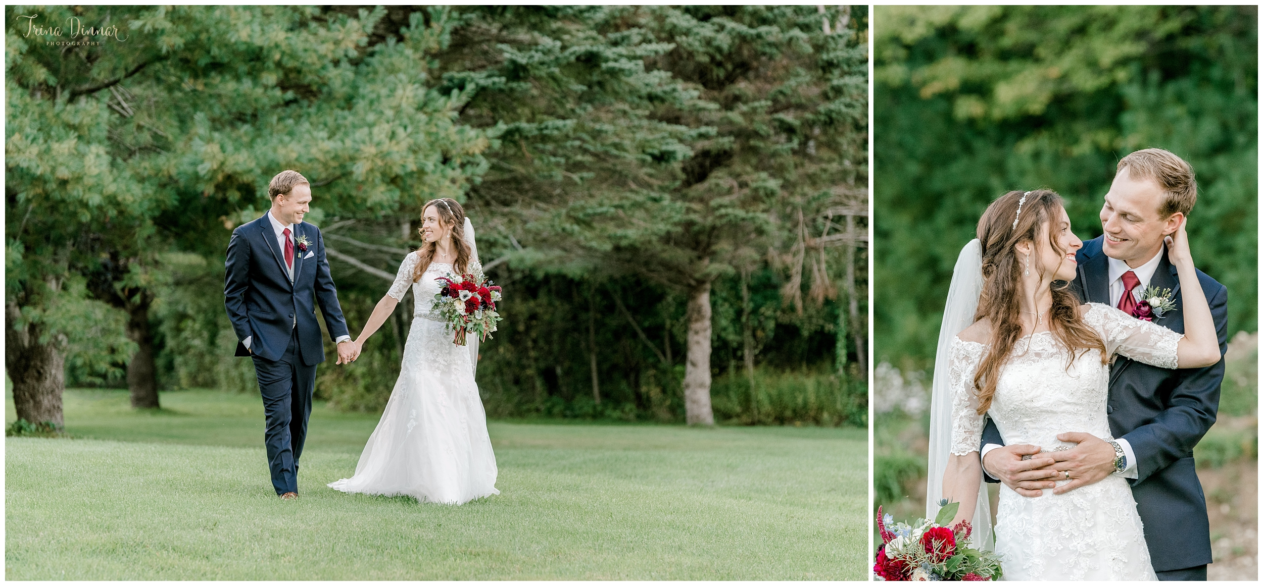 Jennifer and Michael's' Wedding day photography in Biddeford, ME