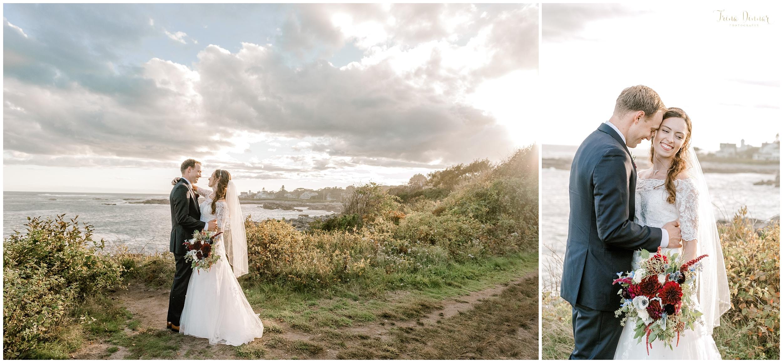 Biddeford Pool Seaside Coastal Wedding Portraits