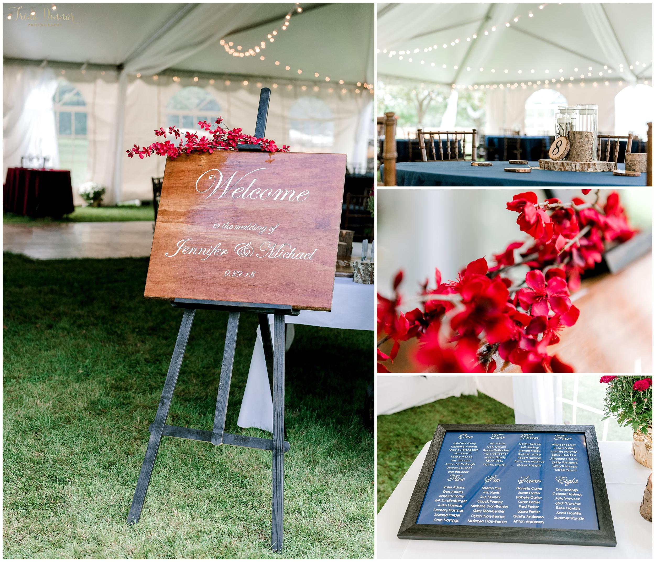 DIY wedding reception details