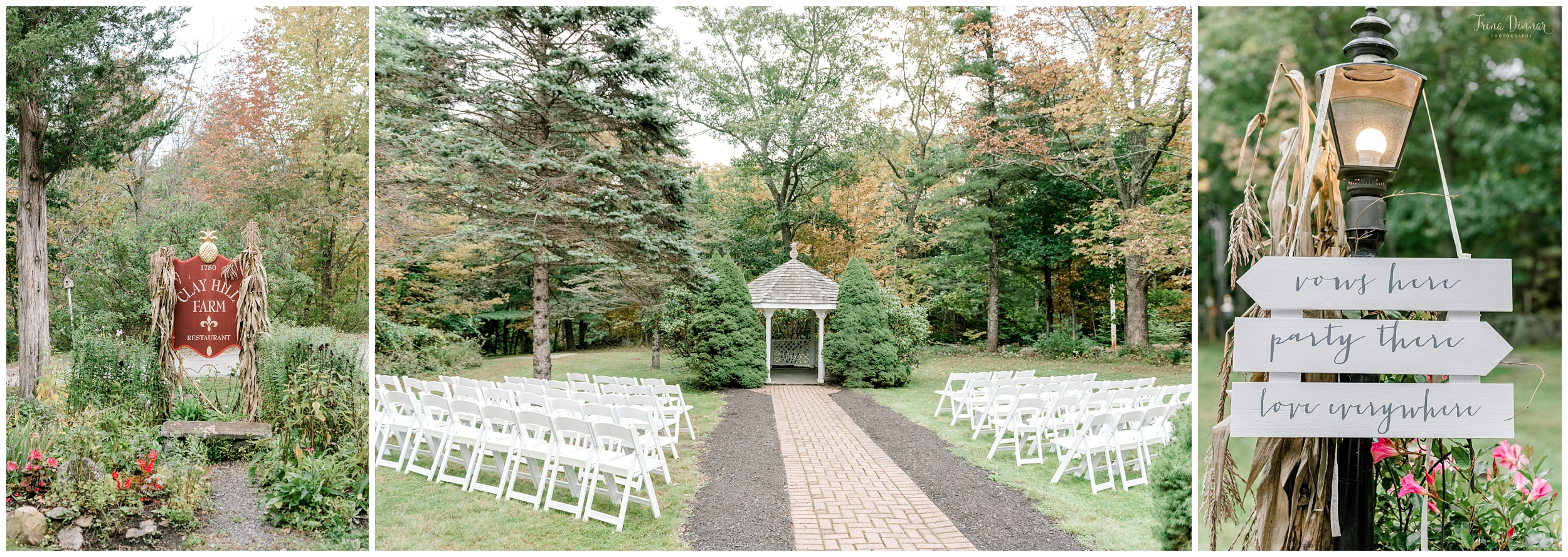 Mallori and James' October Wedding Ceremony at Clay Hill Farm