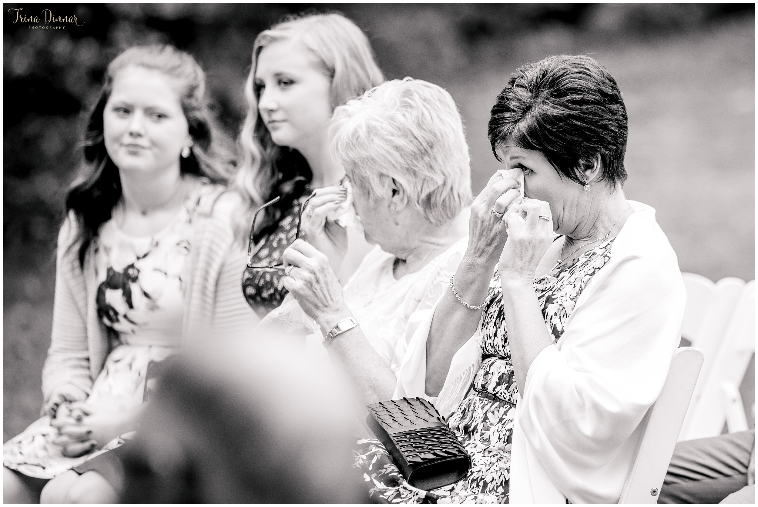 A tearful moment at the wedding ceremony