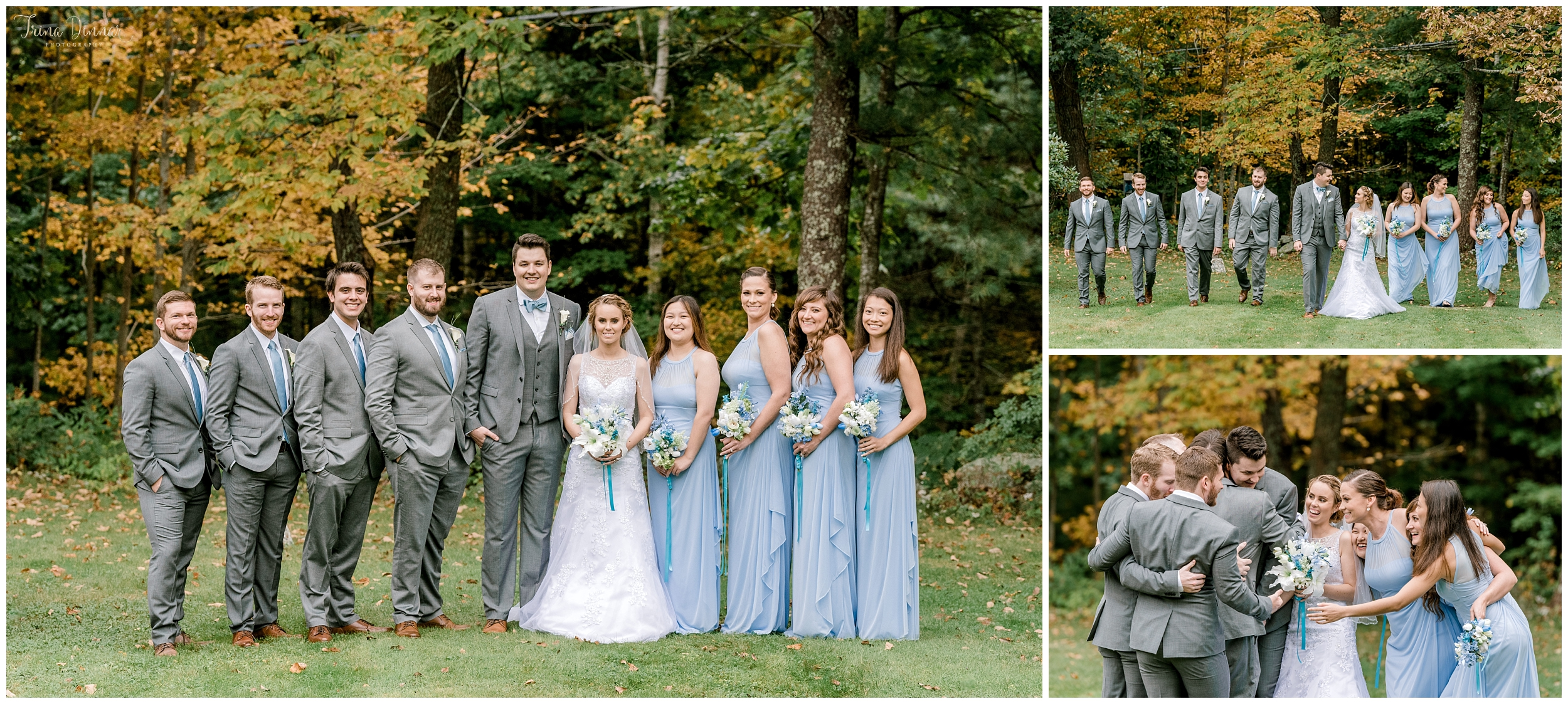 Maine wedding party portrait photography