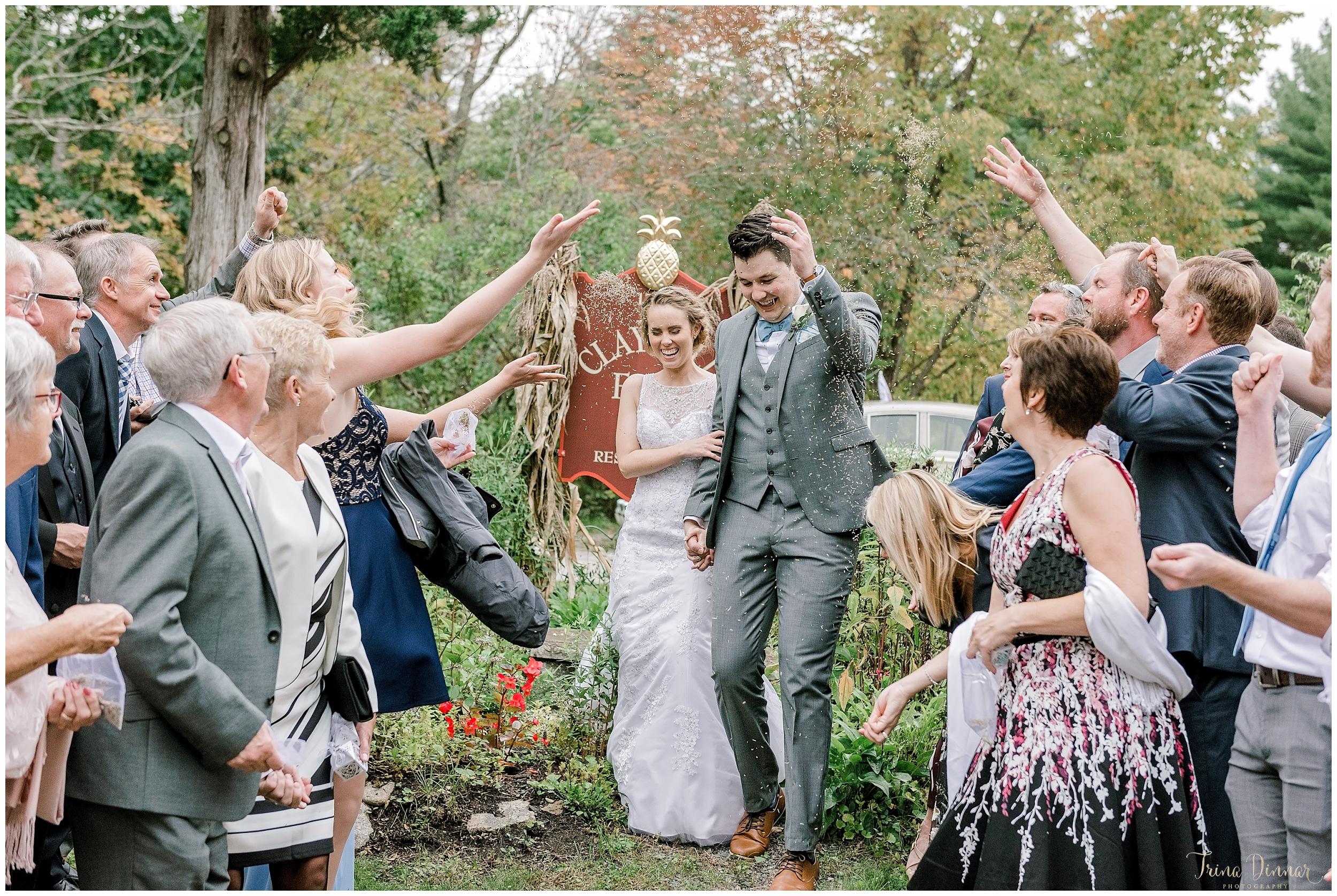 Seed Toss Wedding Exit Cape Neddick ME
