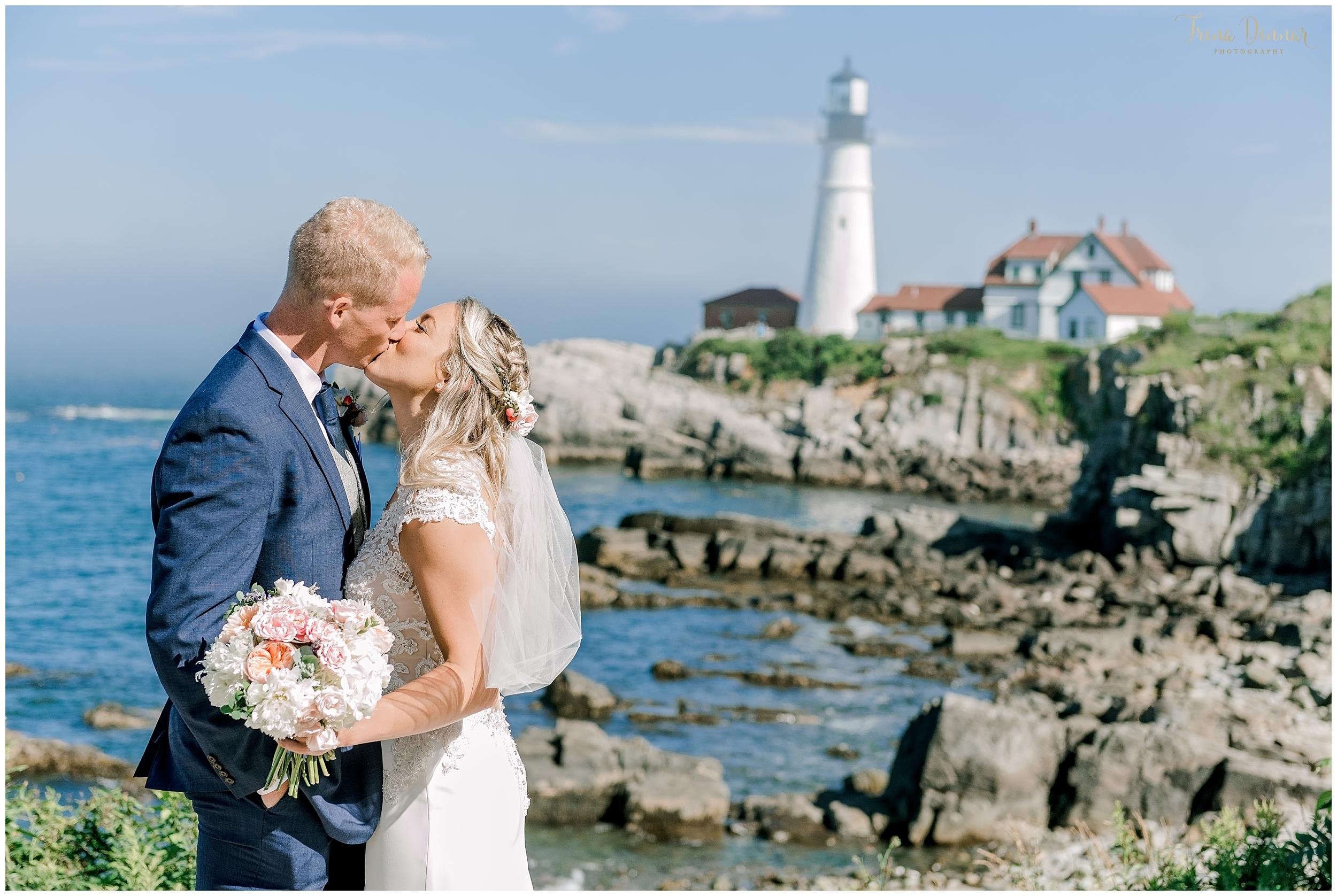 Christine and Gareth's Portland Headlight Maine Wedding