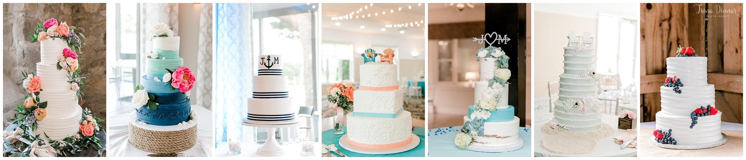 Favorite Maine Wedding Cakes of 2018