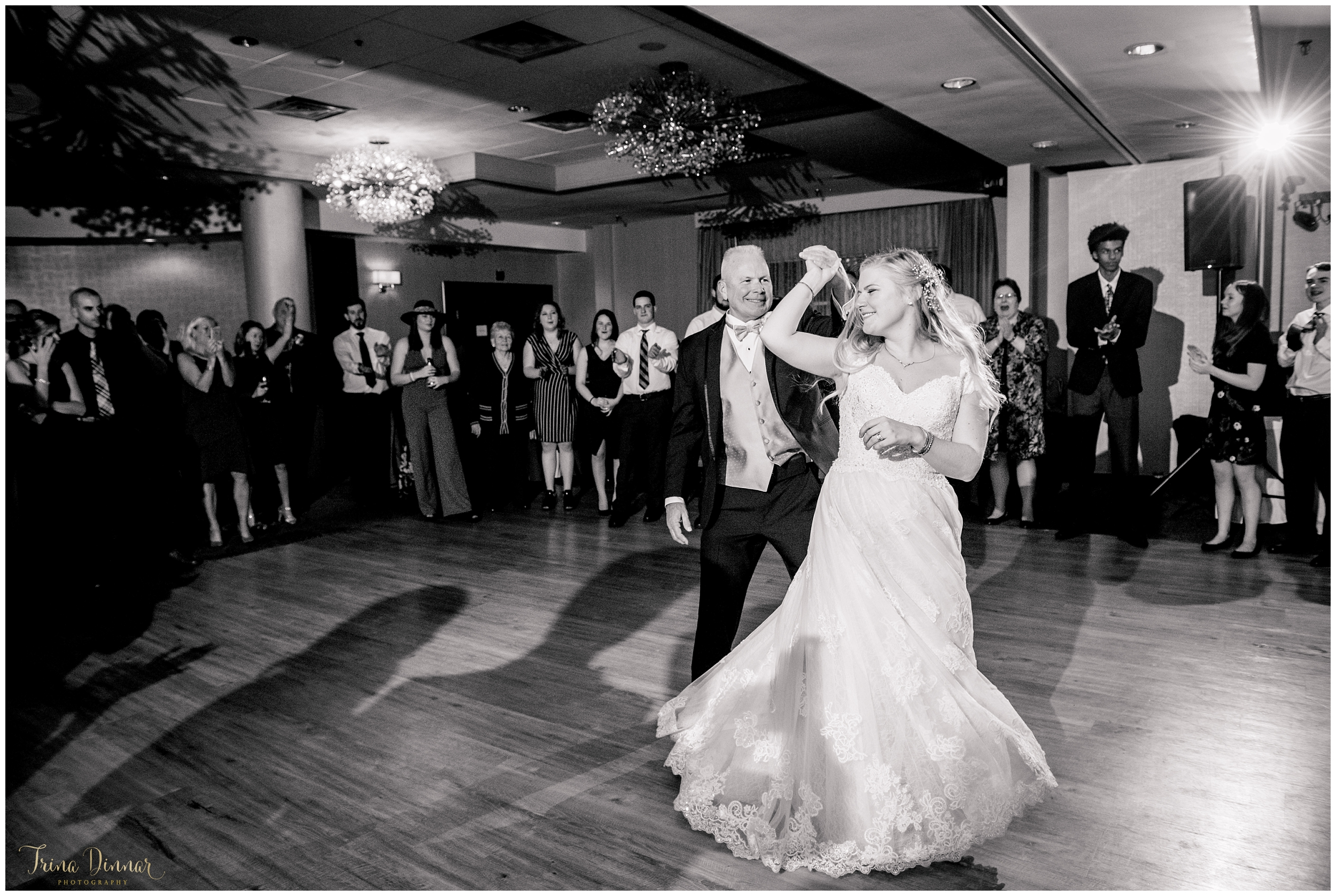 Brides Dance with Father at Sheraton Hotel Wedding Portsmouth, NH