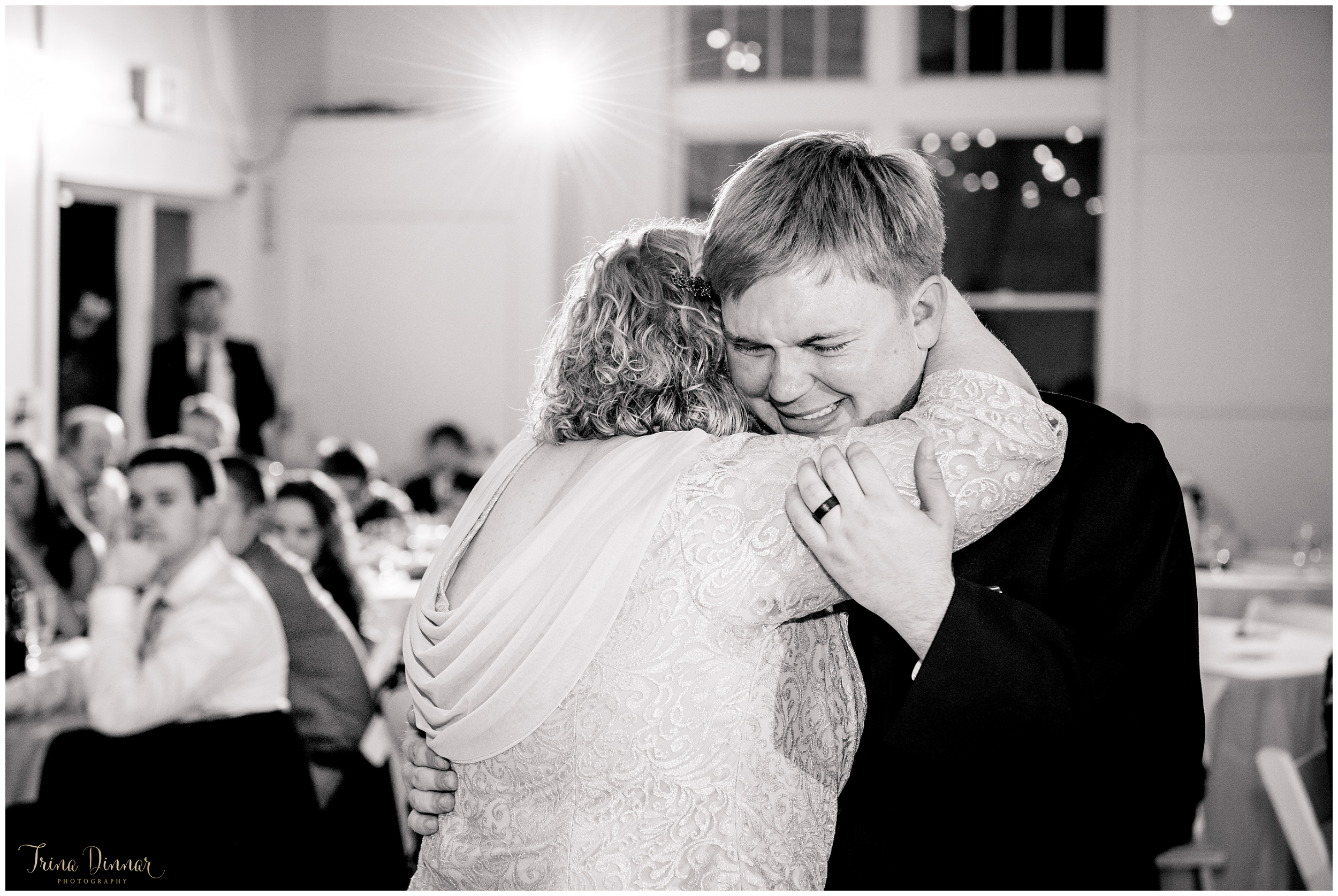 Emotional Moment During Mother Son Dance