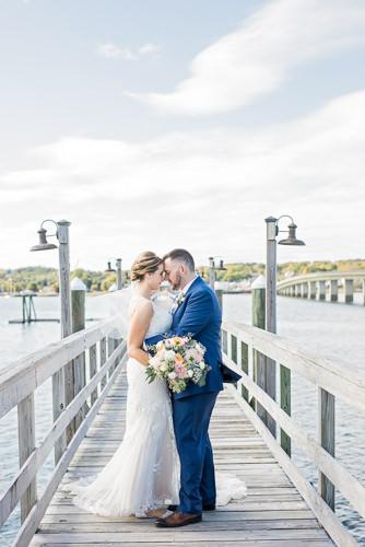 Wedding portraits in Boothbay Harbor, Maine