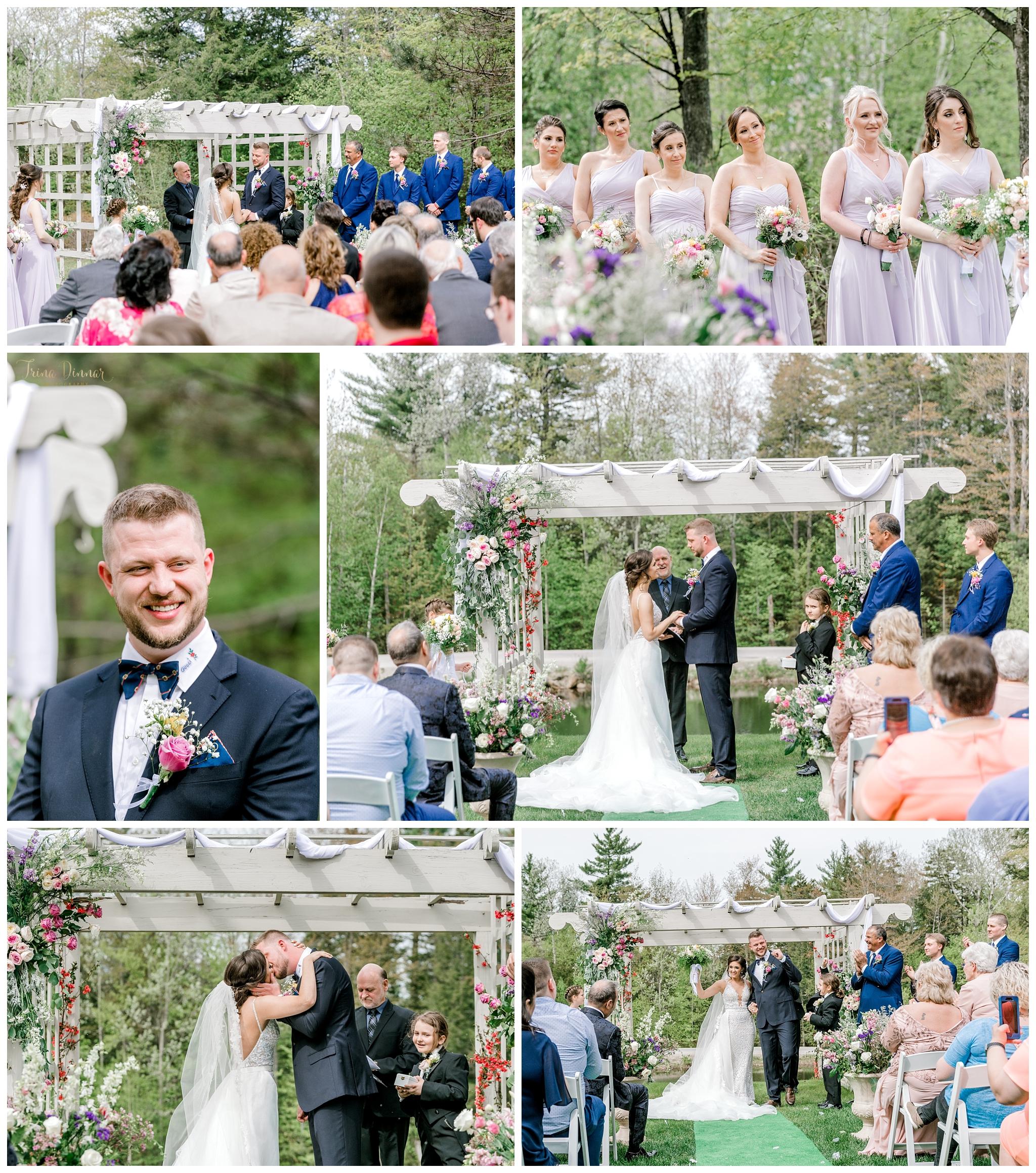 Wedding Ceremony at Grand Summit Hotel Newry Maine