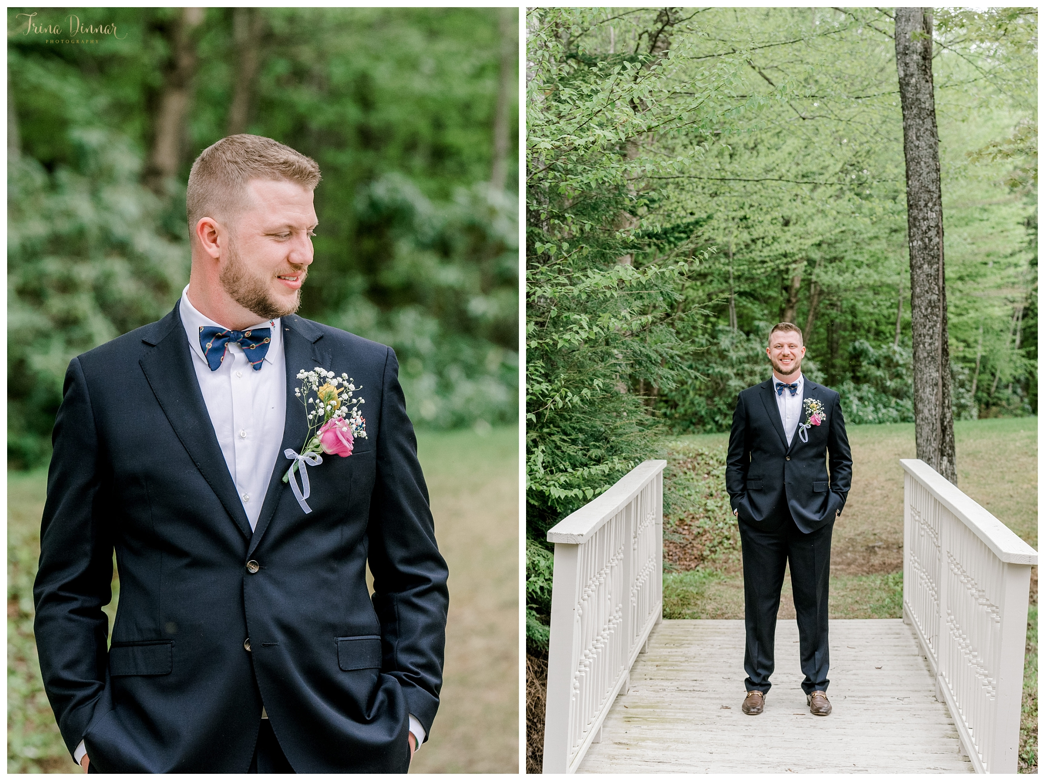 Groom Wedding Portraits at Sunday River