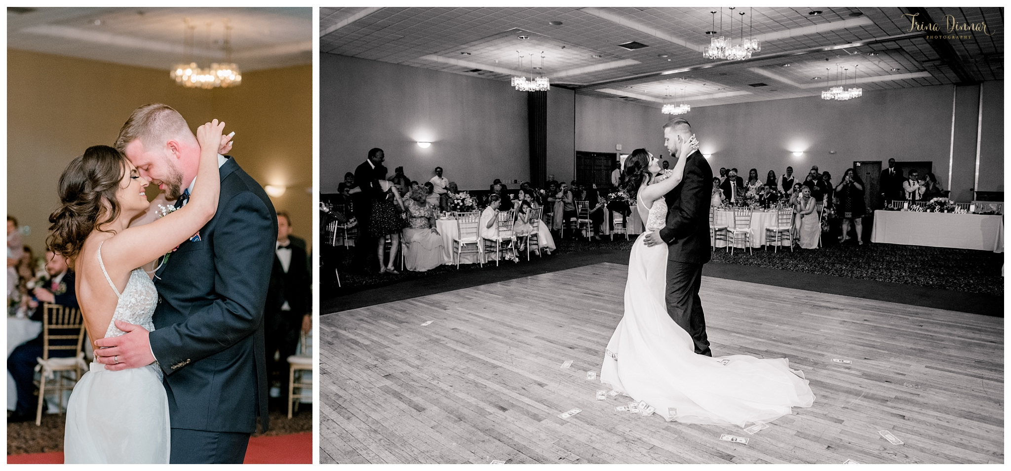 Bride and Groom's first dance in the Grand Ballroom at the Grand Summit Hotel