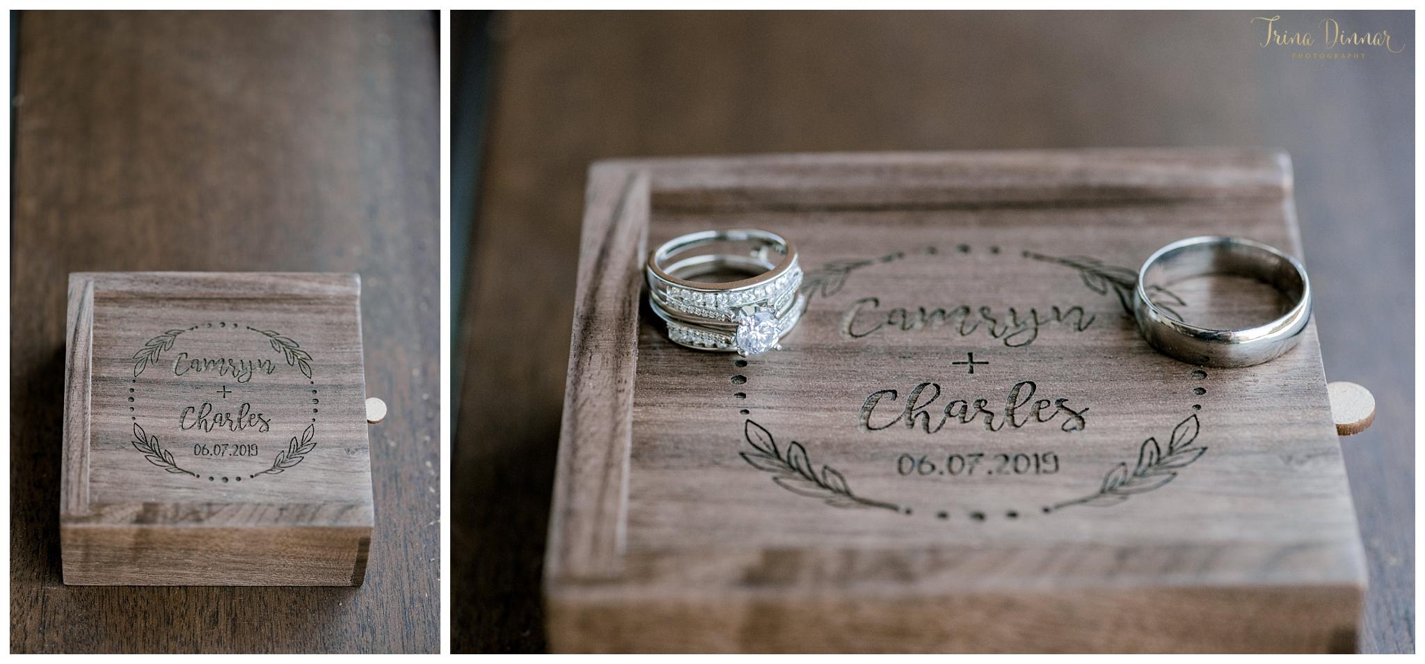 Elegant Rustic Wedding Ring Box