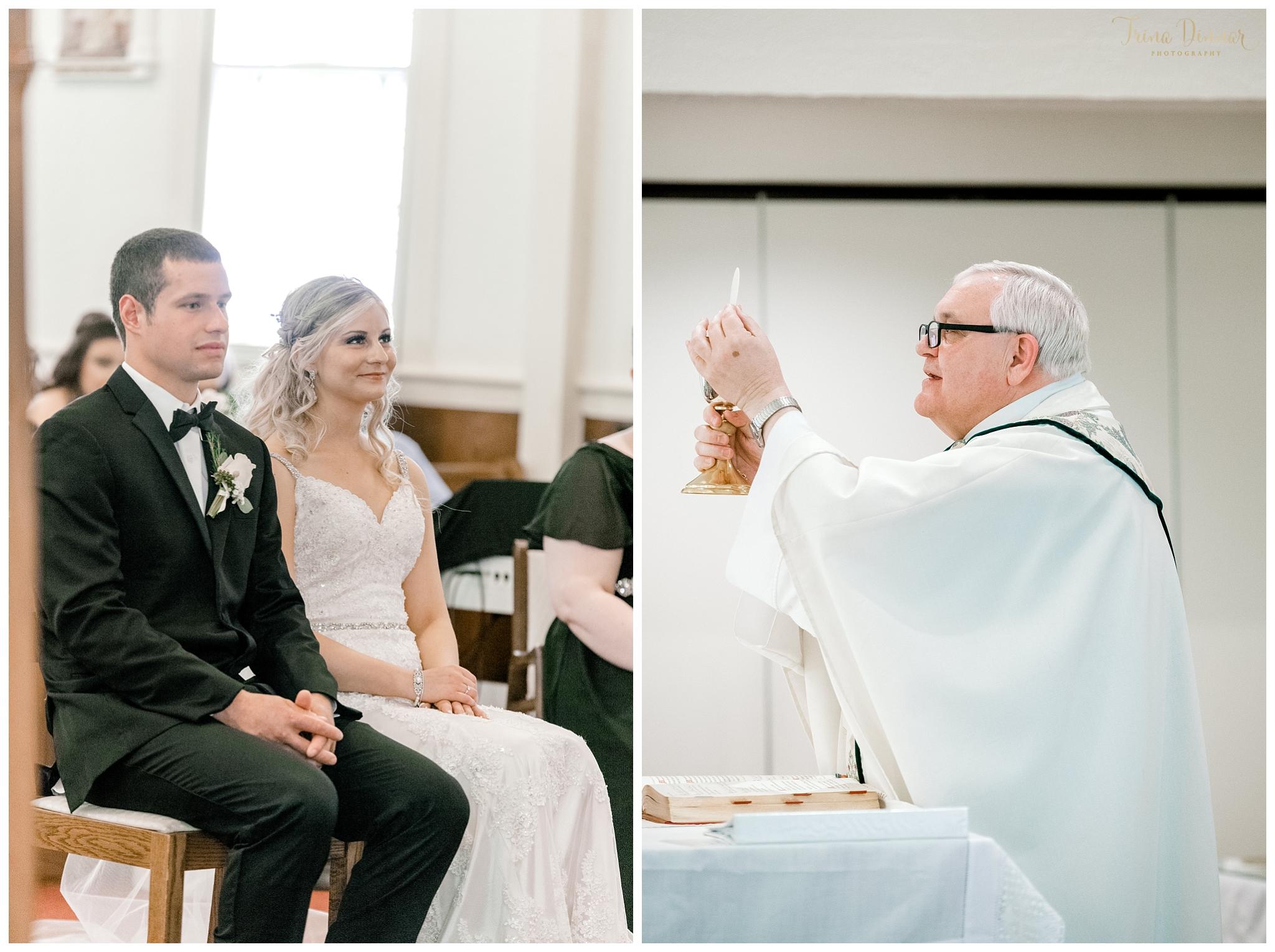 Catholic Church Wedding Ceremony in Camden, ME