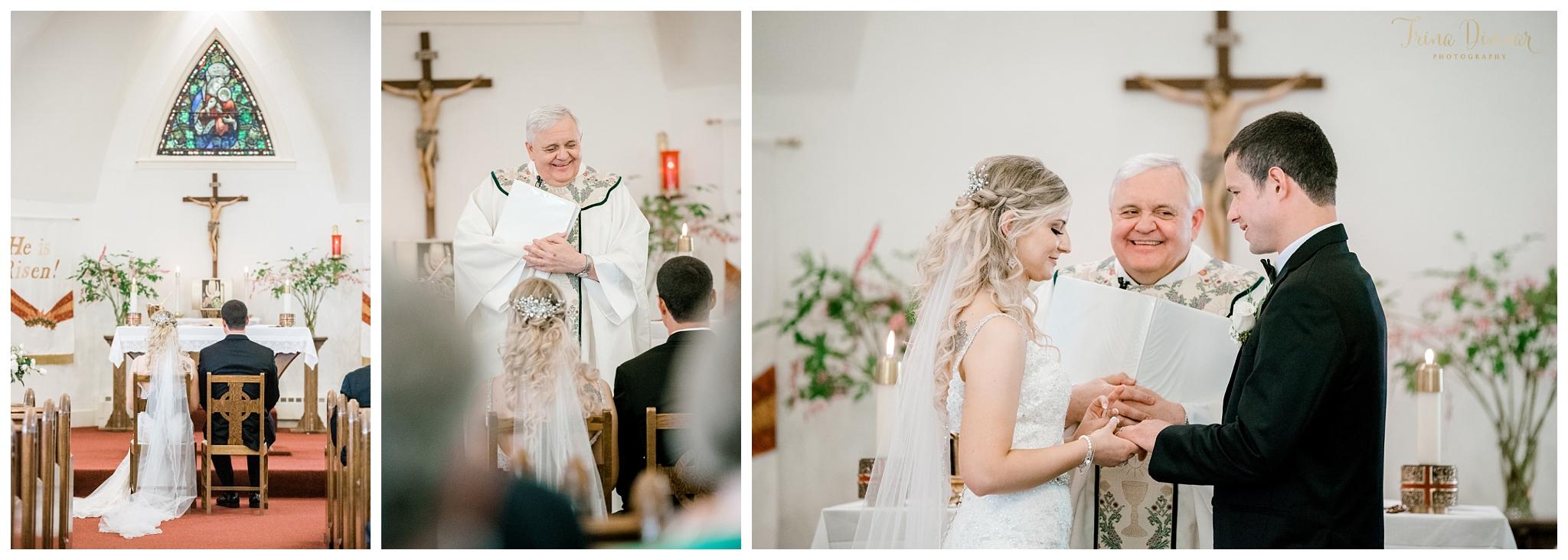Catholic Wedding Ceremony at Our Lady of Good Hope Camden, Maine.