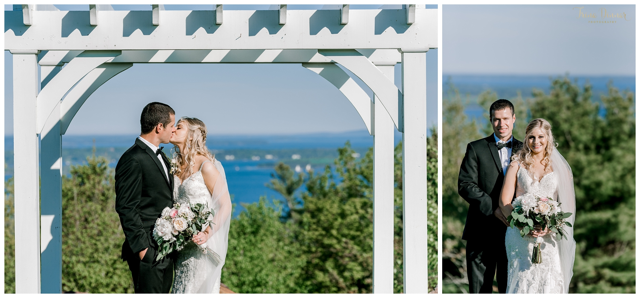 Wedding Portrait Photography at Knight Pond in Northport, ME