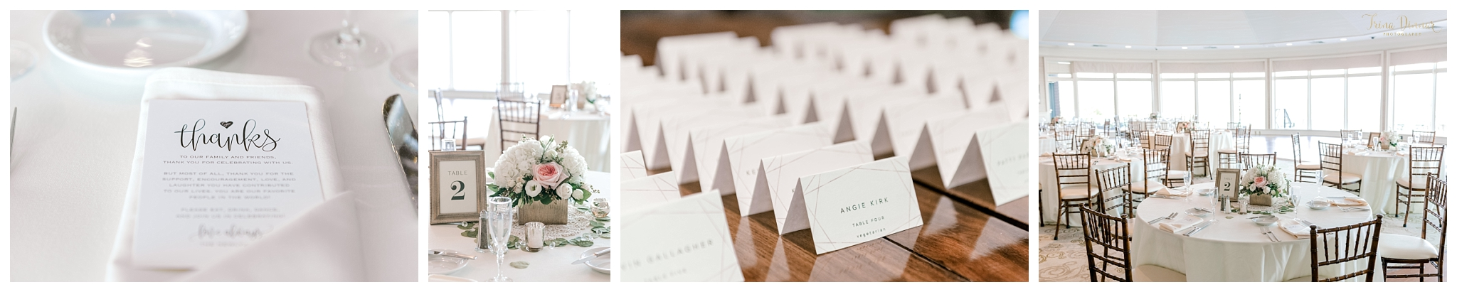 Point Lookout Wedding Reception Details