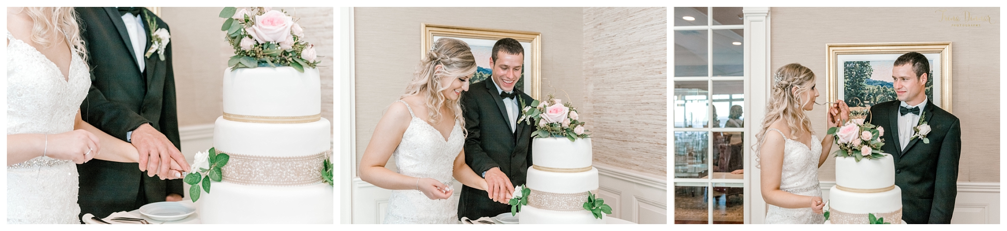 Cake Cutting Northport ME Wedding Reception