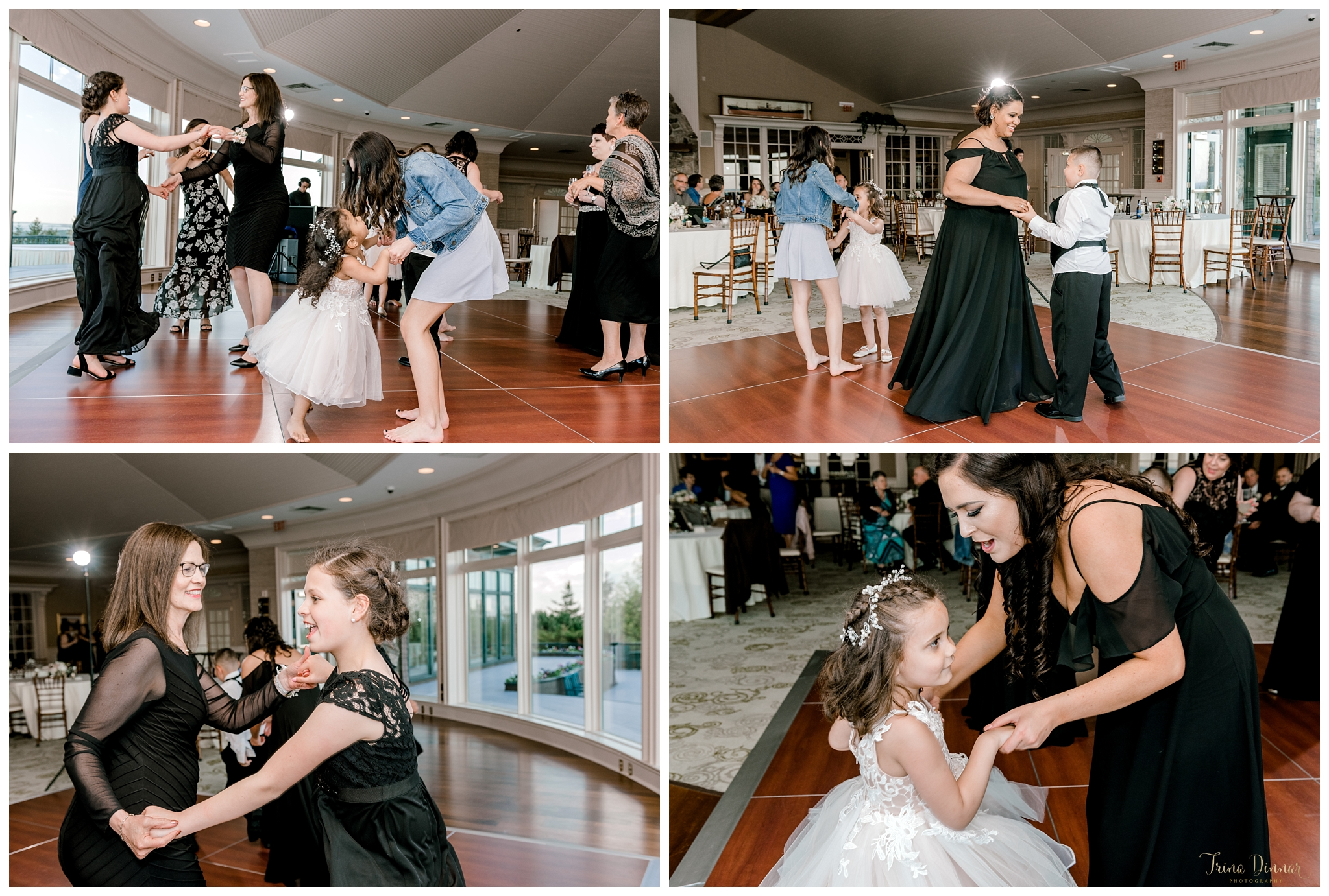 Dancing at The Summit at Point Lookout during a wedding reception.