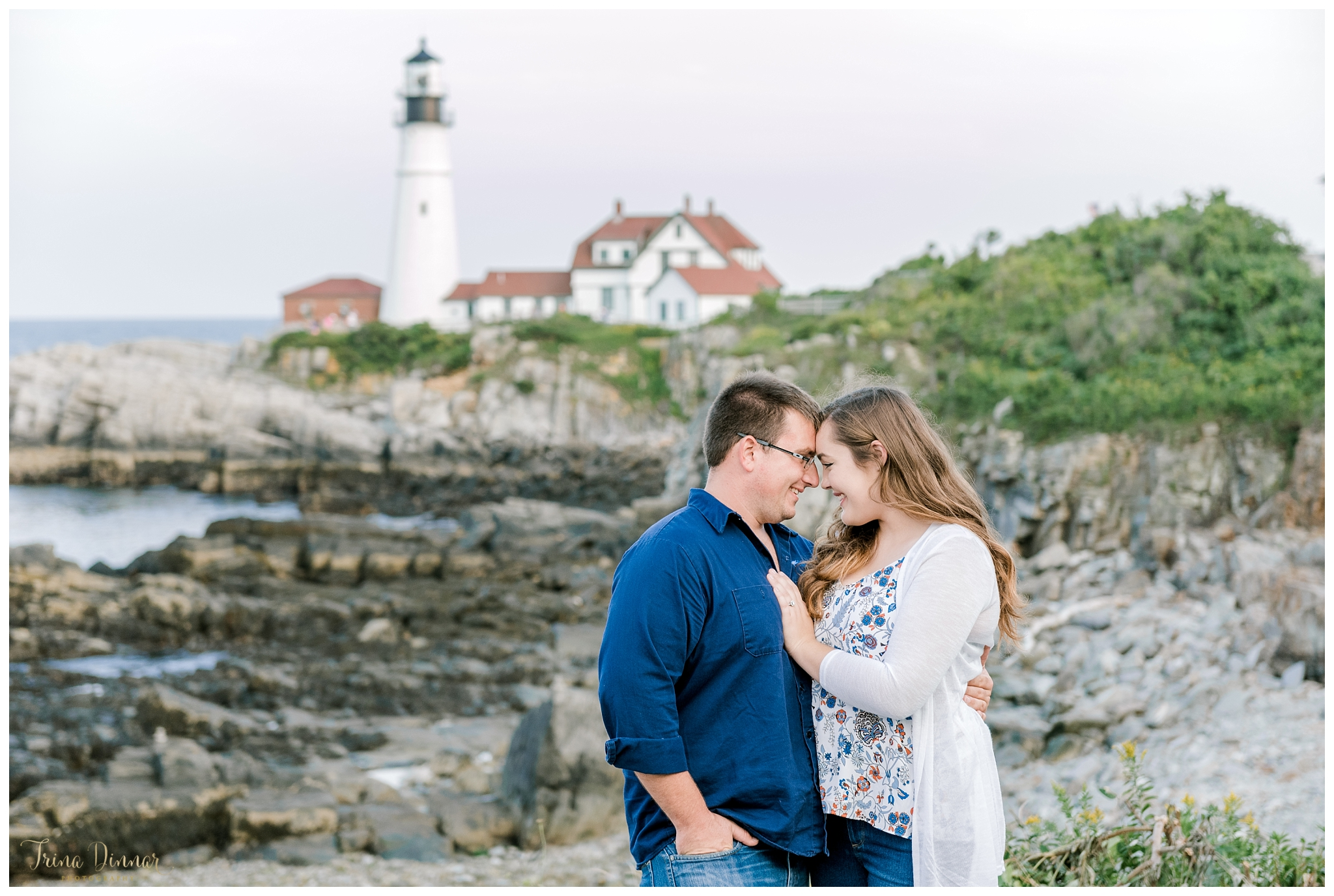 Portland Headlight Maine Engagement Session Photography