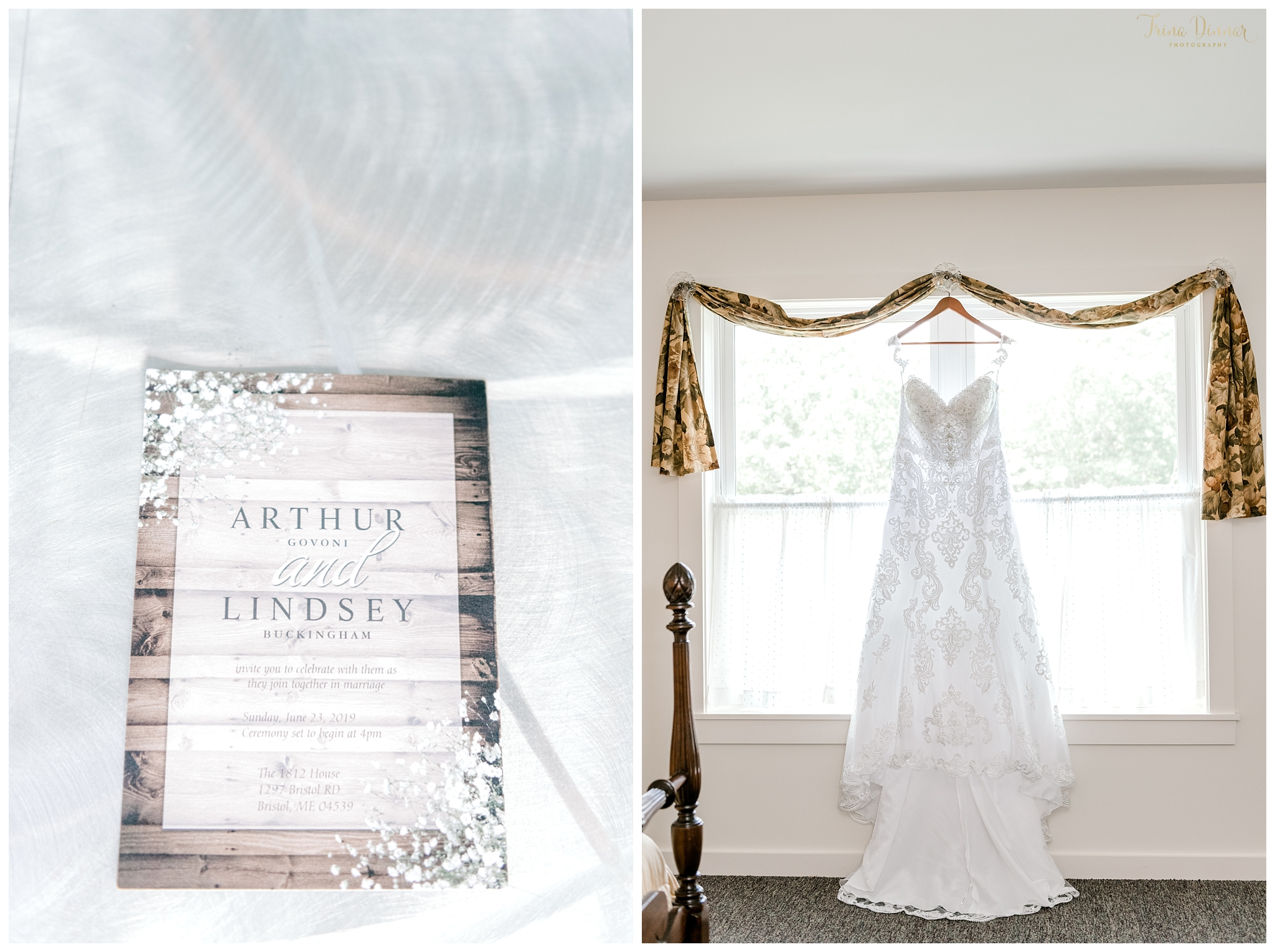 Wedding Invitation and Bridal Gown