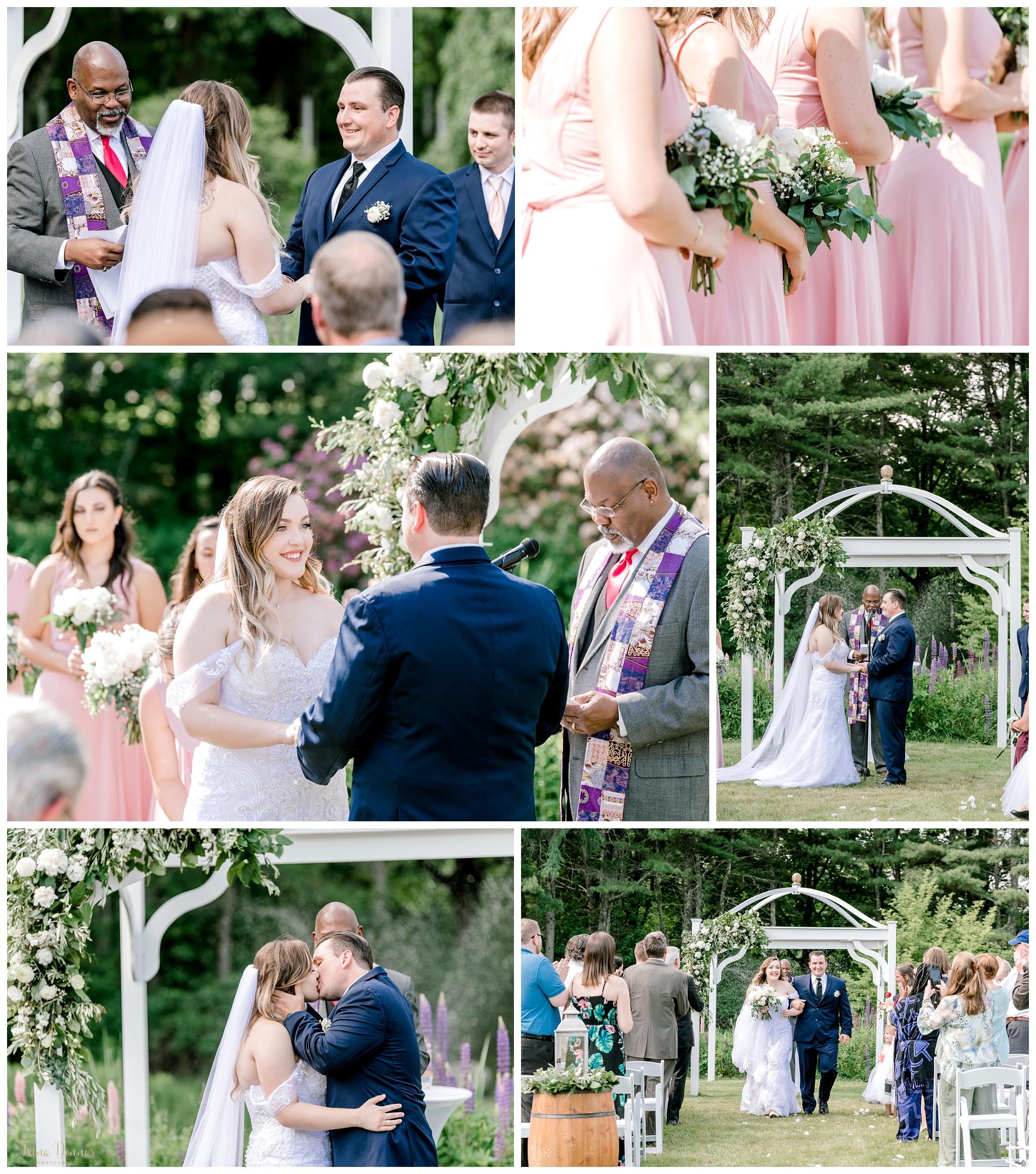 Outdoor Maine Wedding Ceremony in Bristol