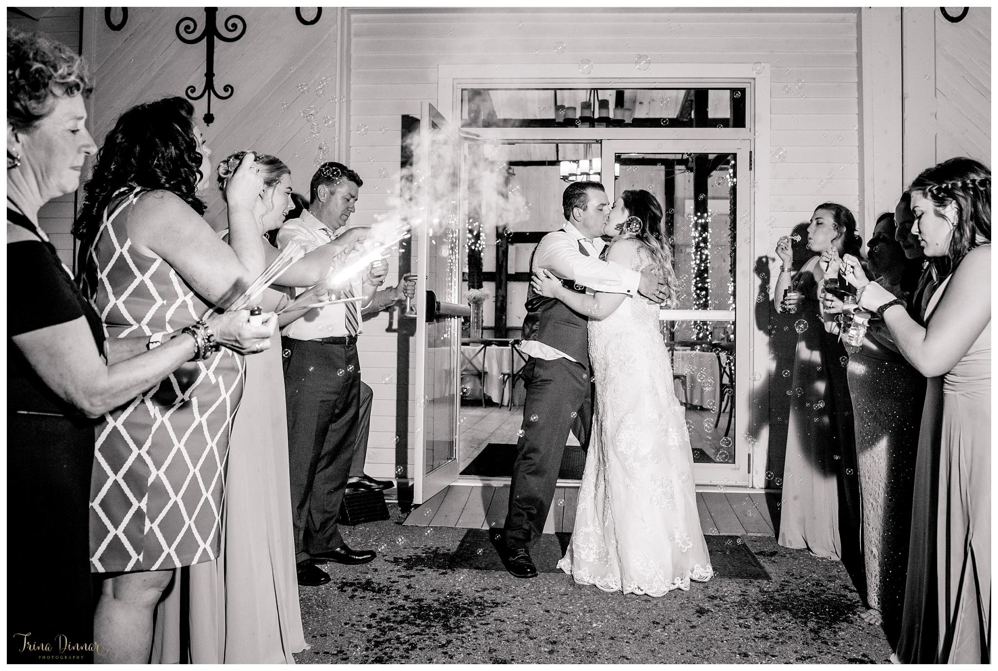 Wedding Bubble Sparkler Exit