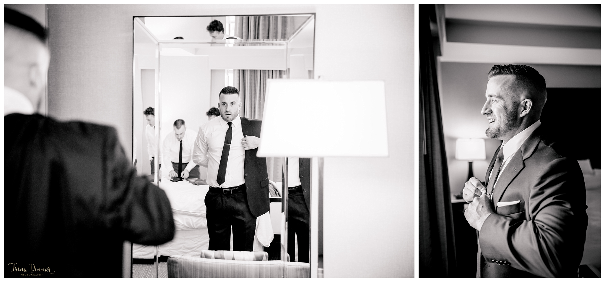 The Westin Portland Harborview Hotel ME Groom Portraits