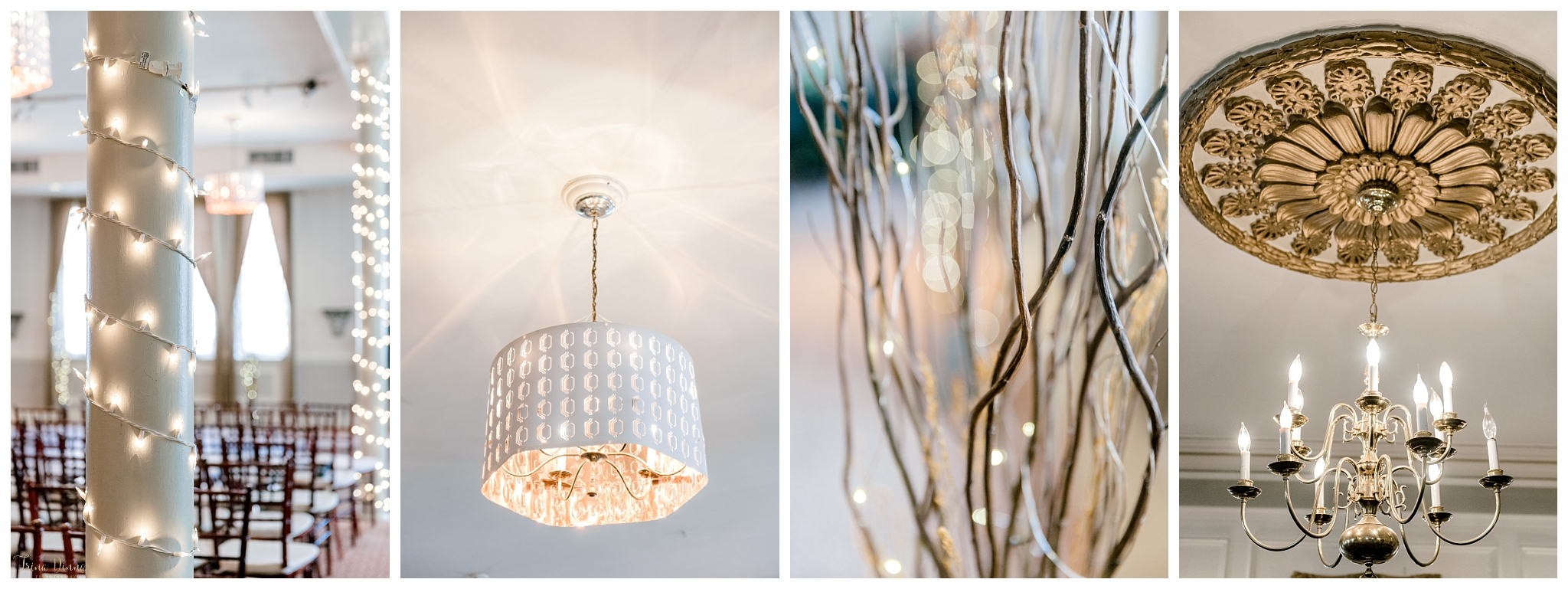 Portland Maine Wedding Reception Lighting and Decor