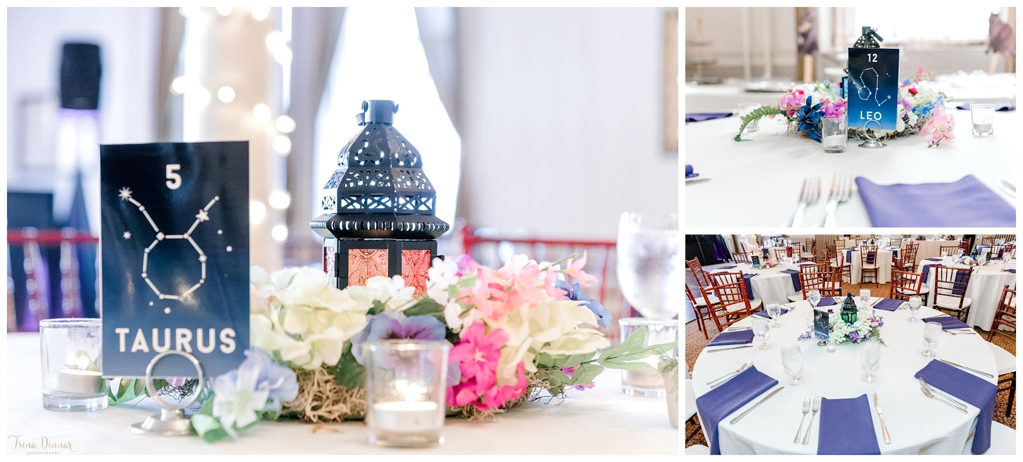 Astrology Constellation Star DIY Wedding Reception Decor