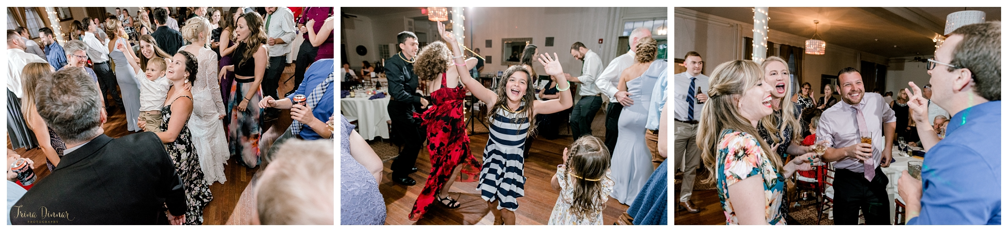 Guests Dancing at Portland Club Maine Wedding