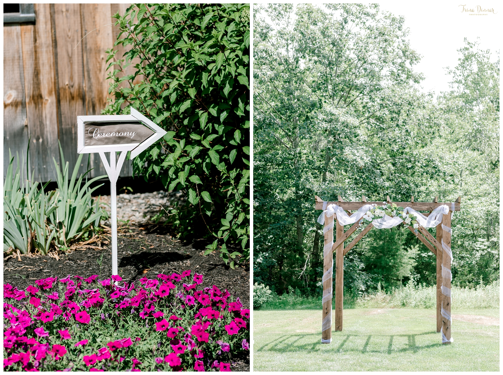 Maine Wedding Ceremony at the Hitching Post