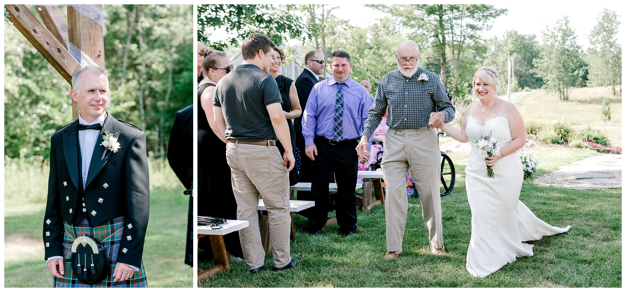 Groom sees Bride at Wedding Ceremony