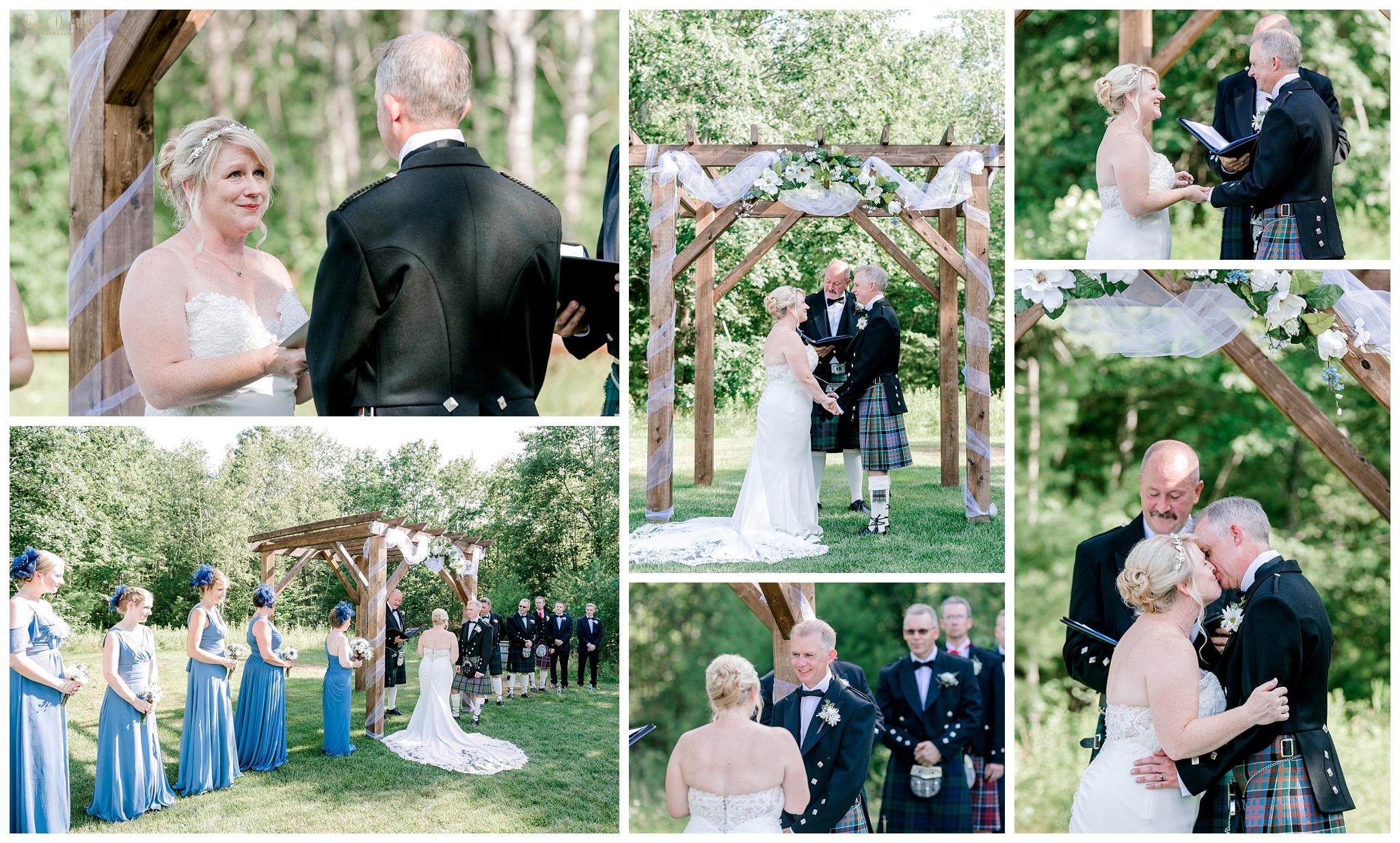 The Hitching Post Scottish Dayton Maine Wedding Ceremony
