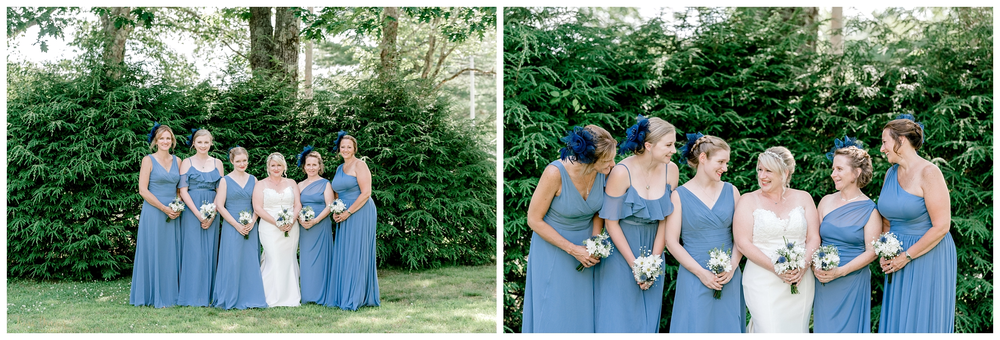 Blue Scottish Influenced Bridesmaids Wedding Accessories