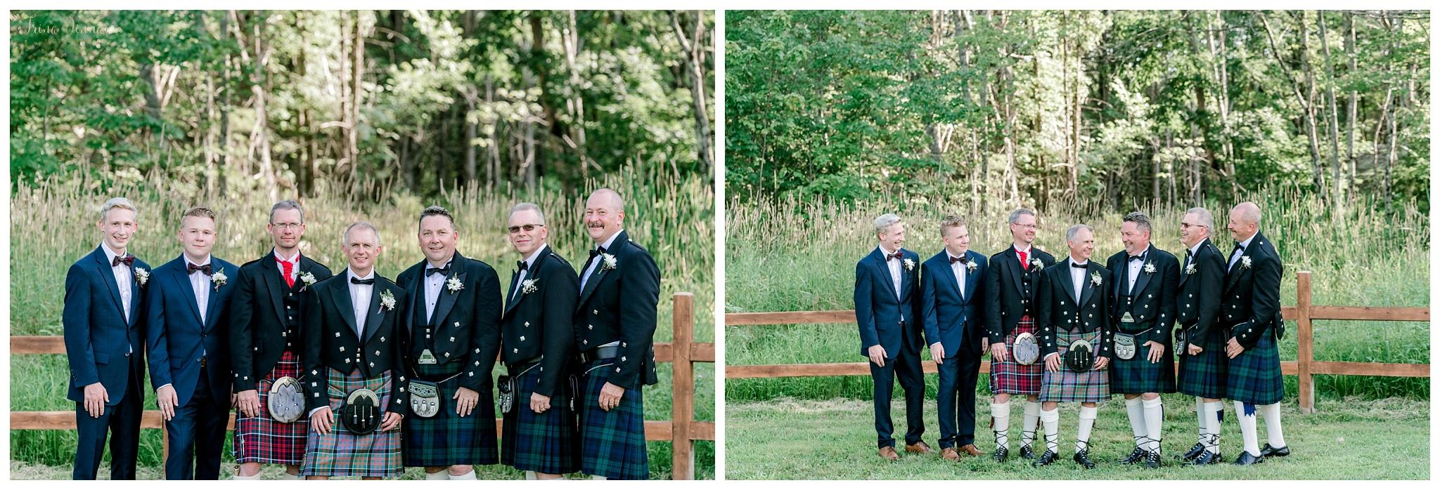 Scottish American Groom and Groomsmen Portraits
