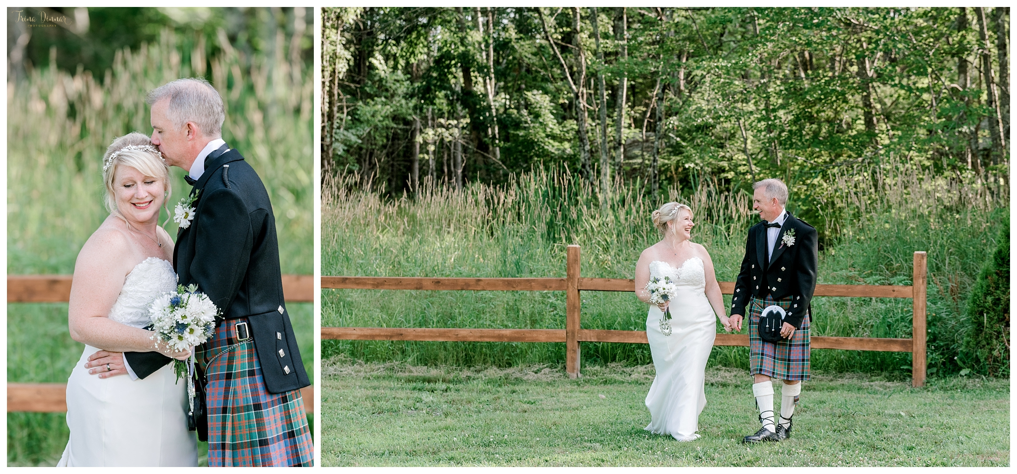 Scottish American Dayton, Maine Wedding at The Hitching Post