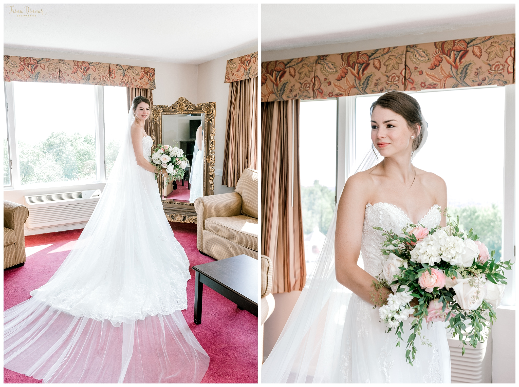 Arla's Wedding Day Bridal Portraits in Dedham, ME.