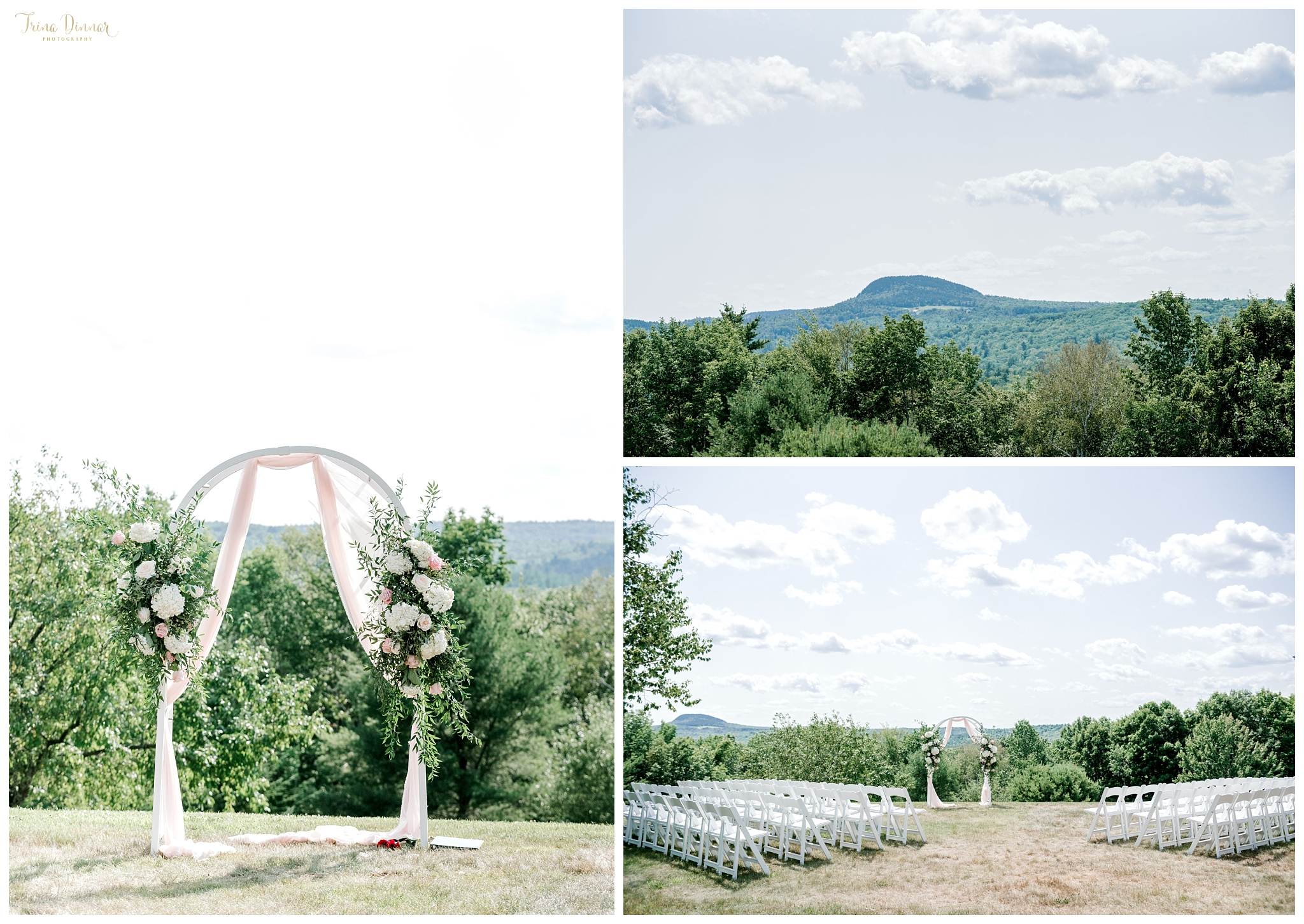 Dedham Maine Wedding Ceremony at The Lucerne Inn overlooking Bald Mountain