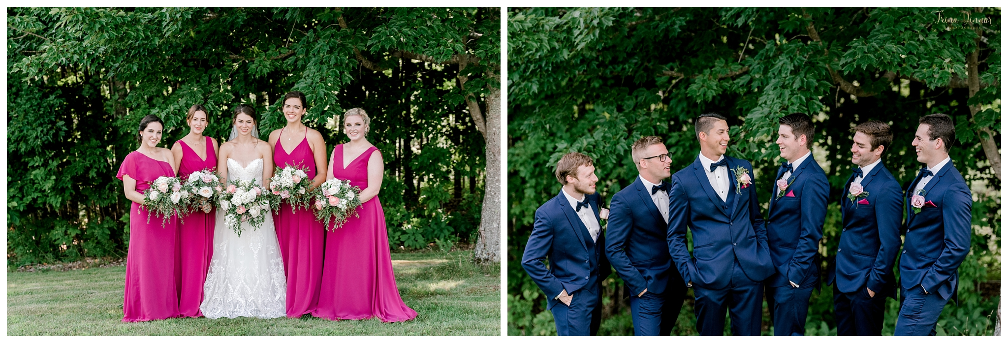 Bridesmaid and Groomsmen Wedding Party Portraits
