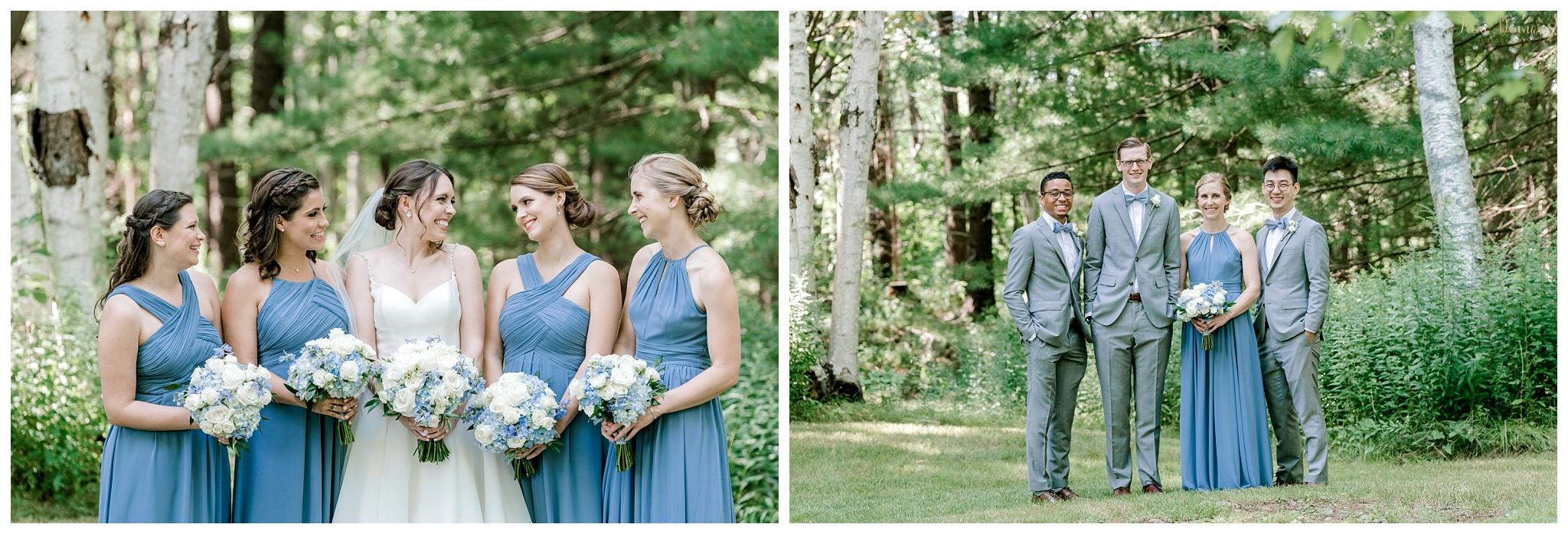 Dusty Blue Grey Wedding Party Attire